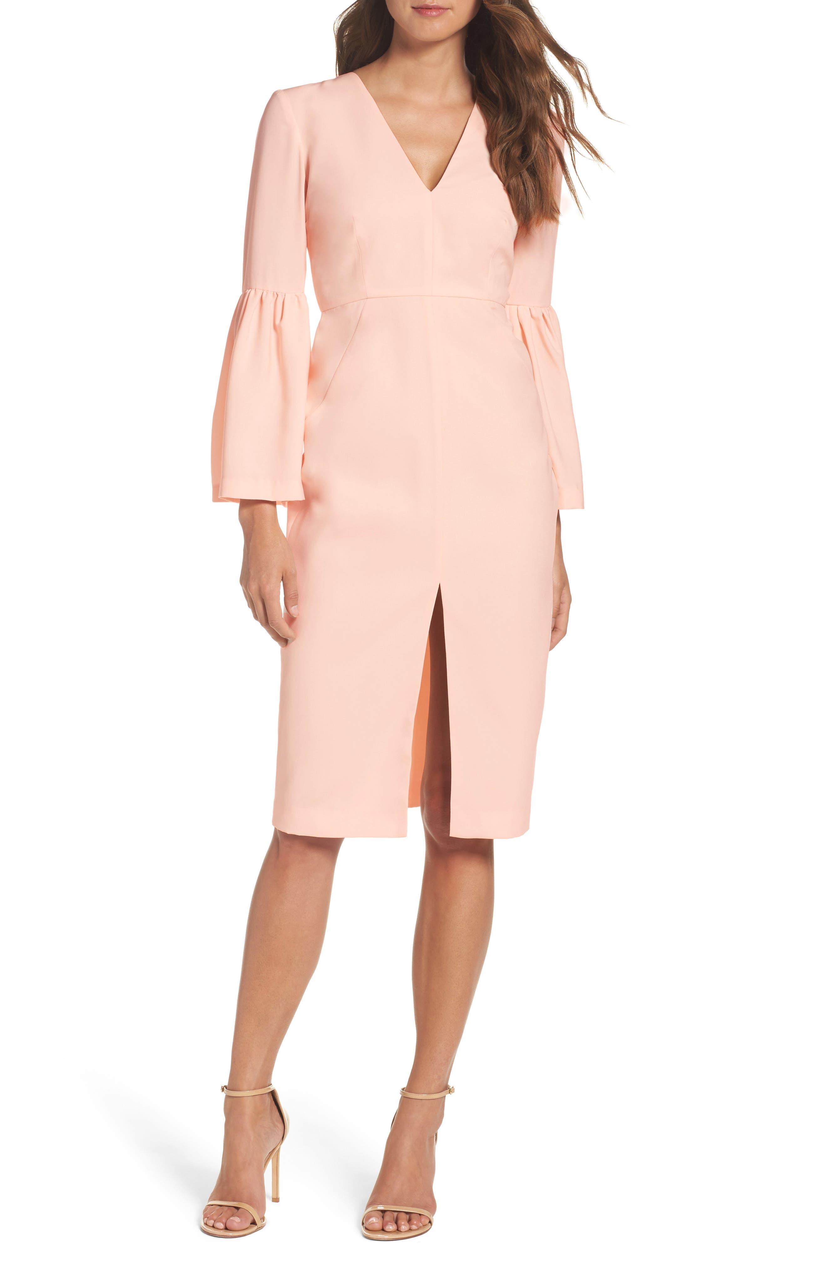 Bell Sleeve Dress,                             Main thumbnail 1, color,                             400