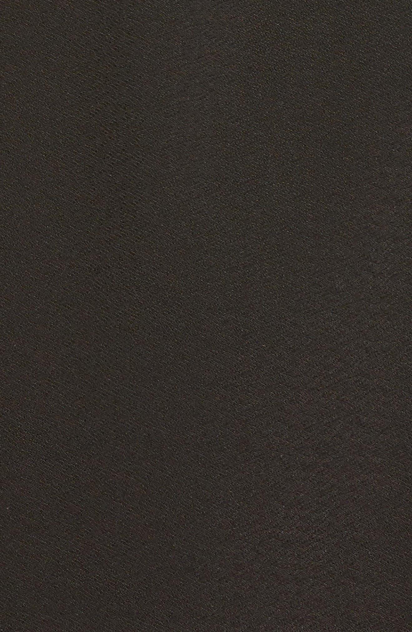 Flounce Sleeve Wrap Dress,                             Alternate thumbnail 5, color,                             001