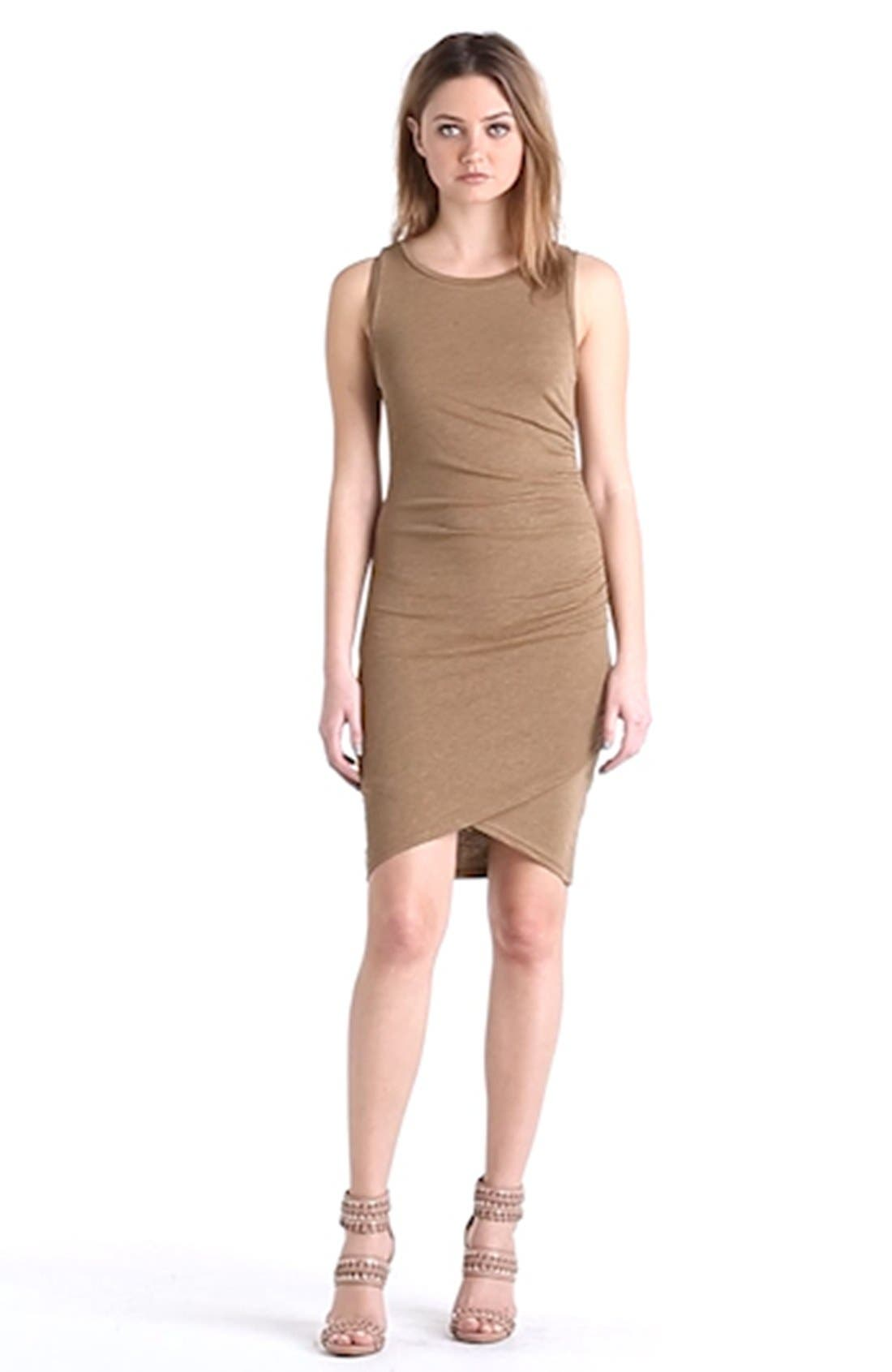 Ruched Body-Con Tank Dress,                             Alternate thumbnail 128, color,