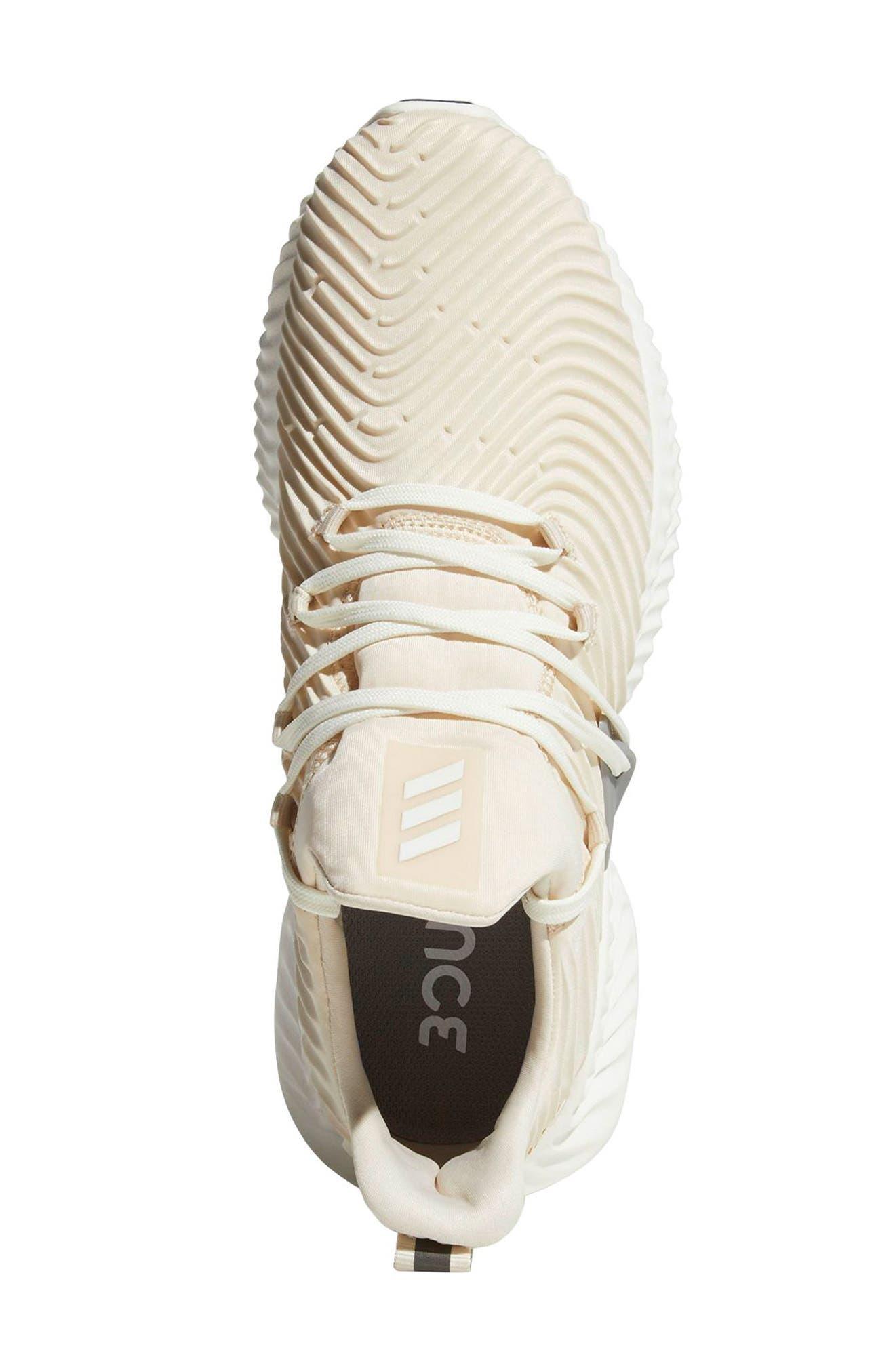 AlphaBounce Instinct Running Shoe,                             Alternate thumbnail 2, color,                             LINEN / CLOUD WHITE / GREY