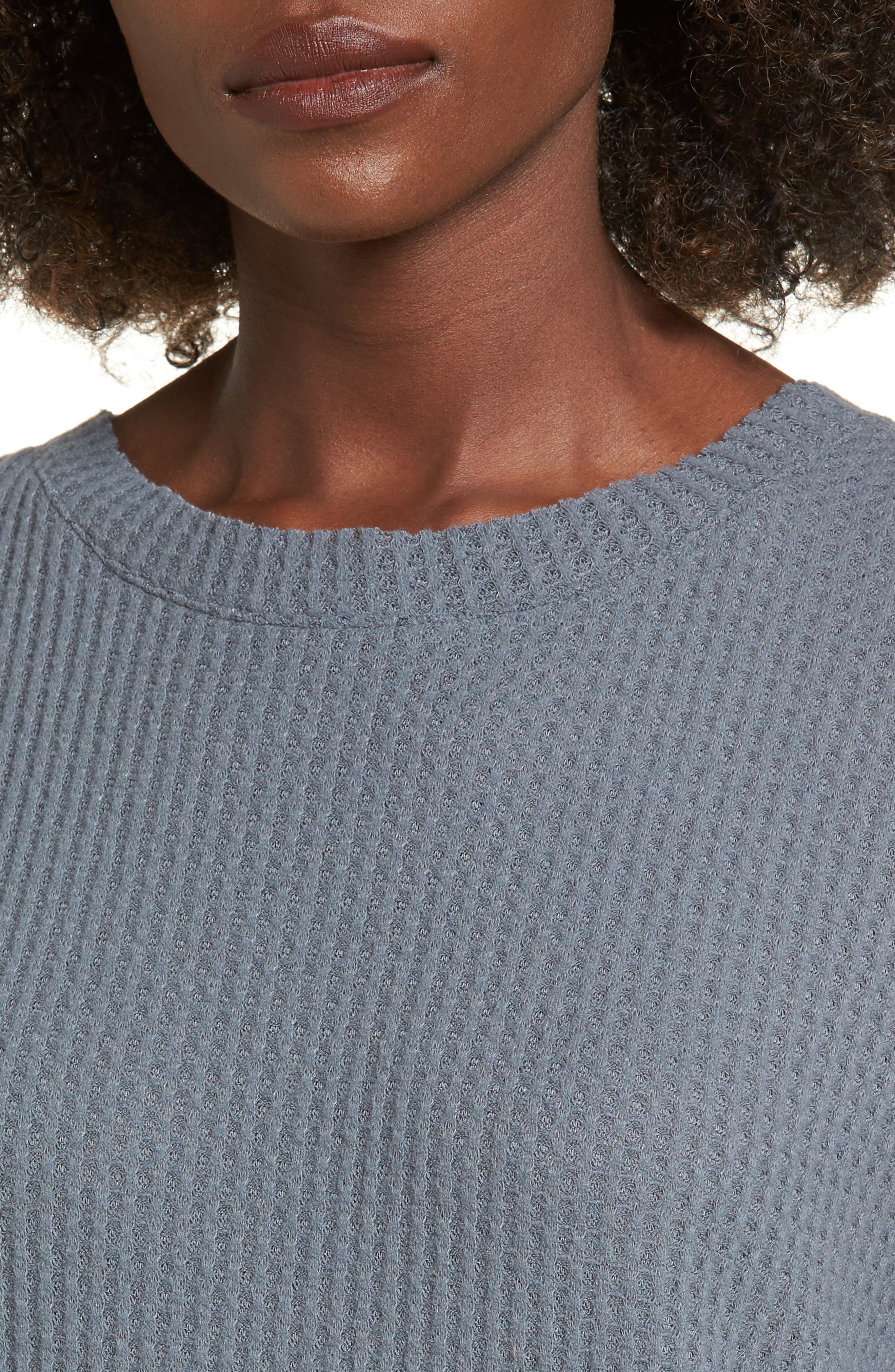 Waffle Knit Top,                             Alternate thumbnail 14, color,
