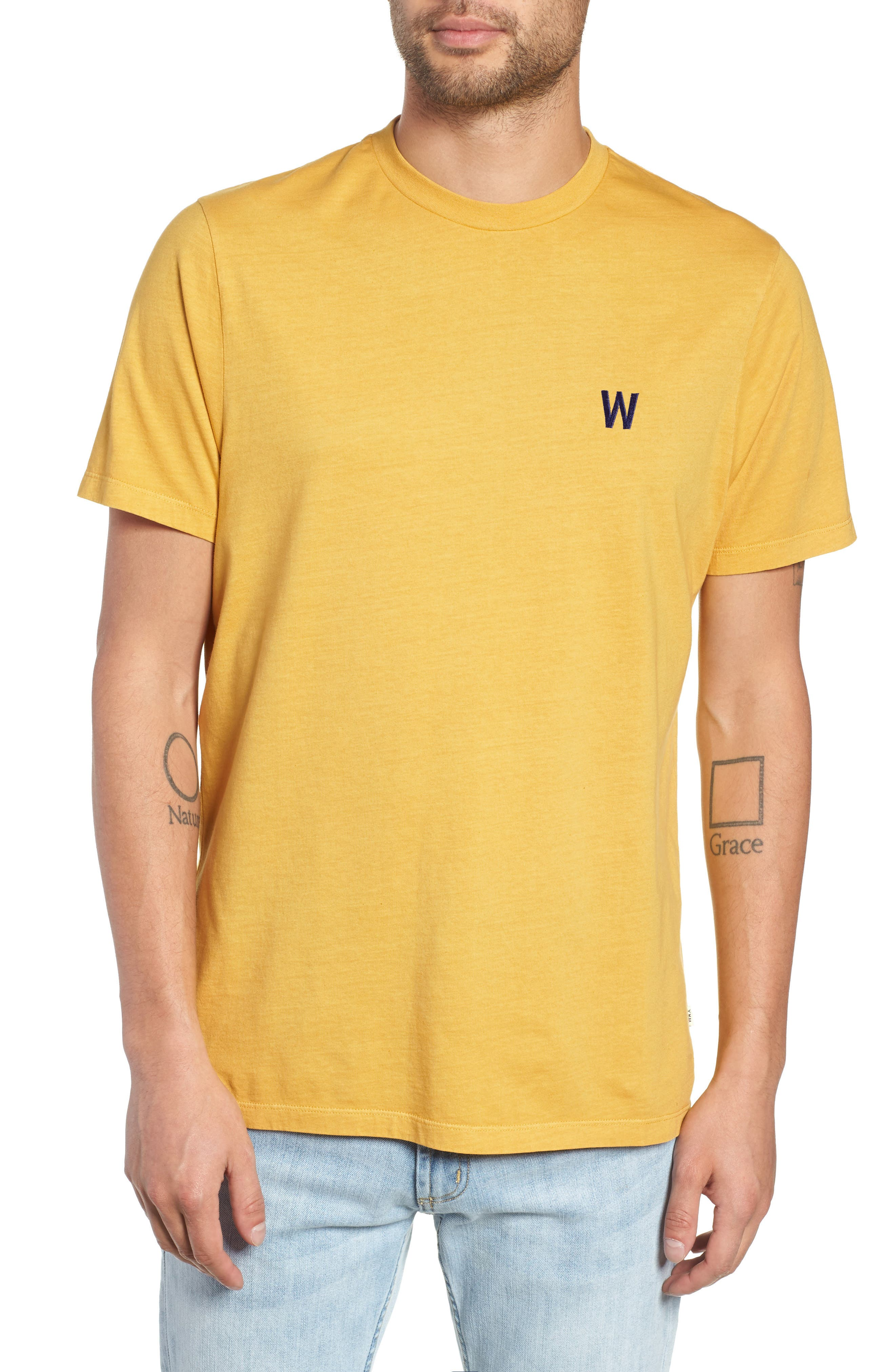 Reid T-Shirt,                         Main,                         color, LEMON