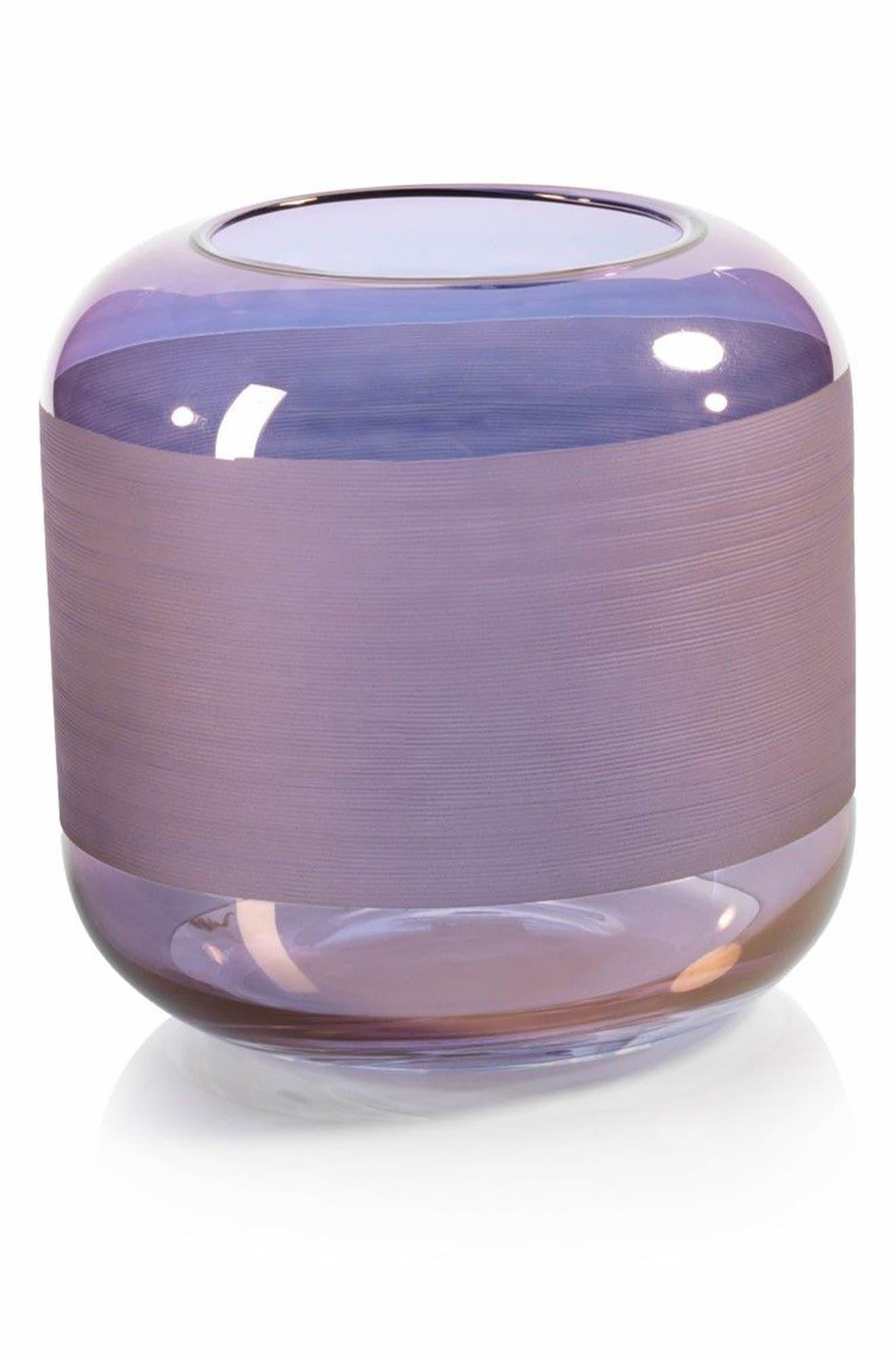 Trezza Glass Vase,                             Main thumbnail 1, color,                             400