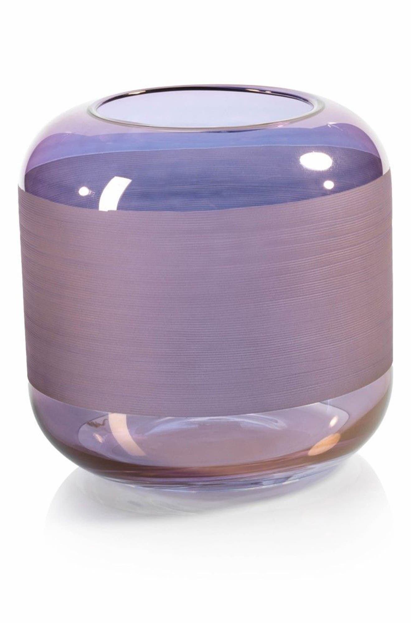 Trezza Glass Vase,                         Main,                         color,