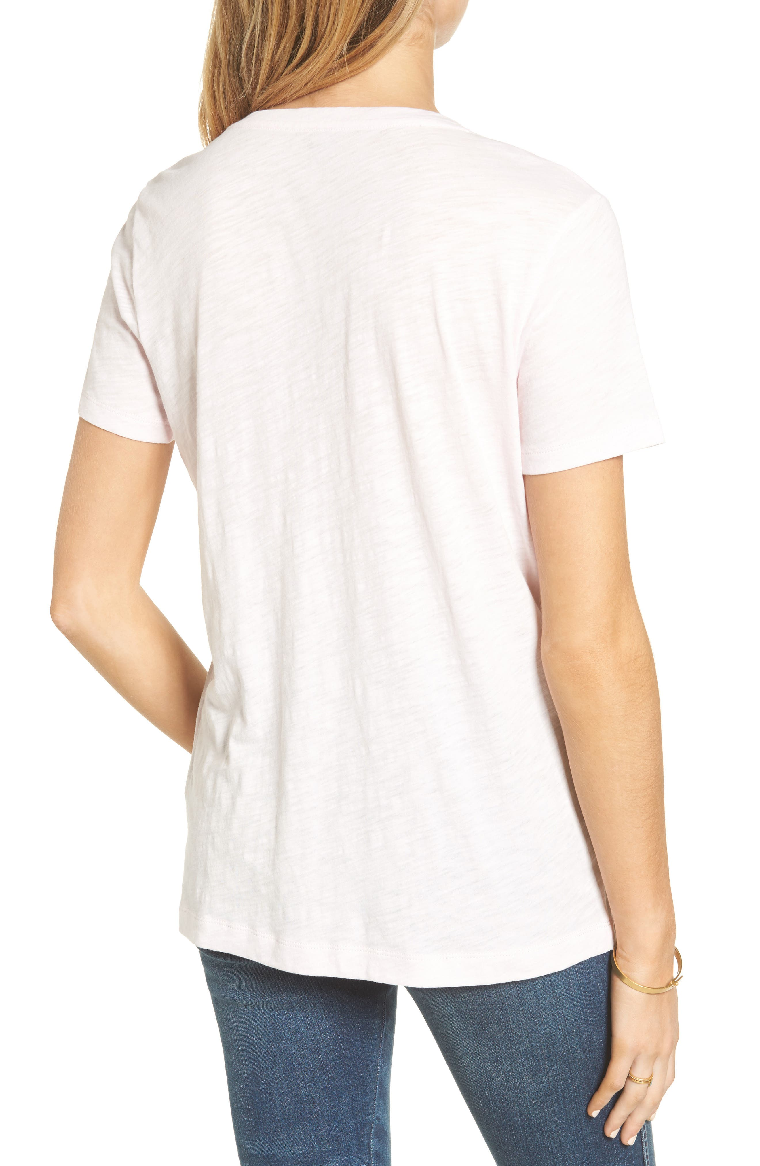 Whisper Cotton V-Neck Pocket Tee,                             Alternate thumbnail 79, color,