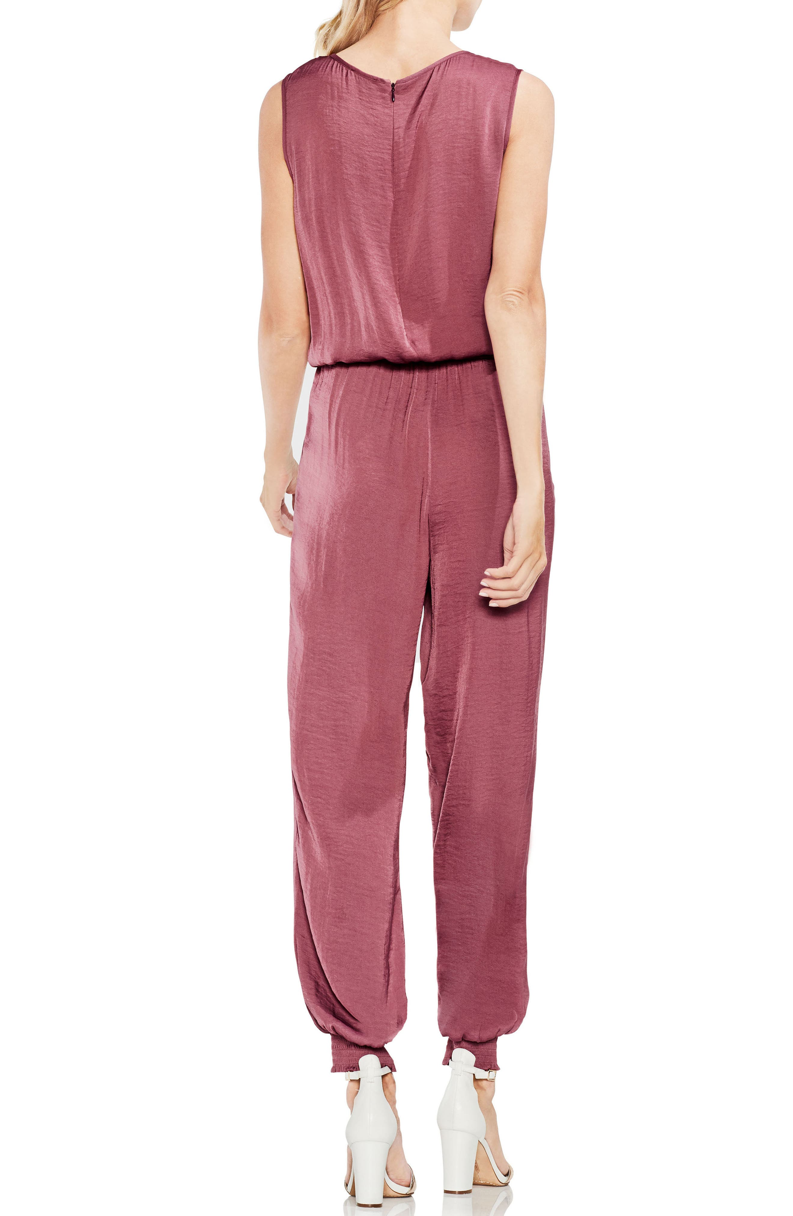 Hammered Satin Jumpsuit,                             Alternate thumbnail 4, color,