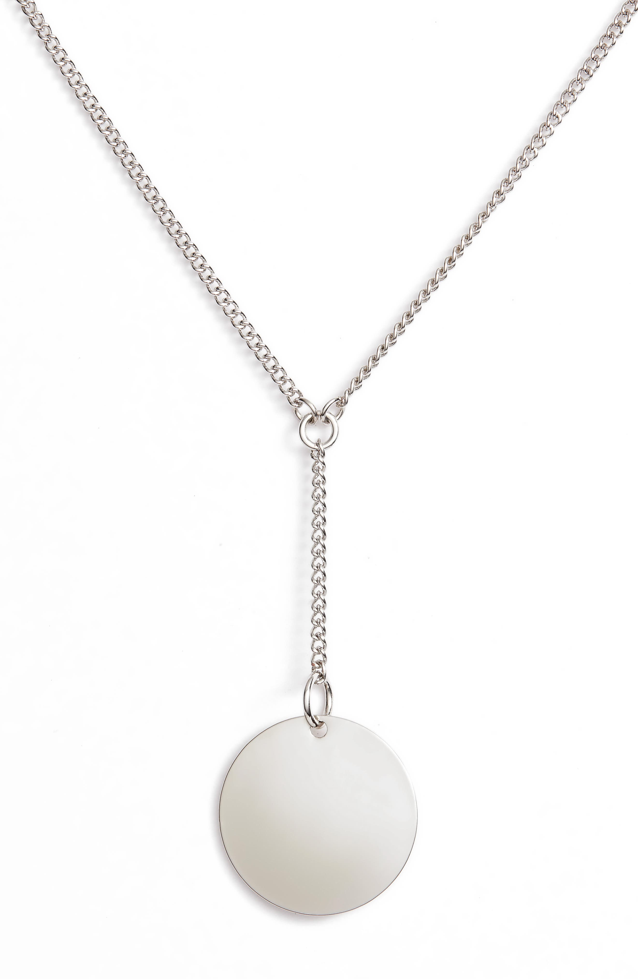 Short Disc Y-Shaped Necklace,                         Main,                         color, 040
