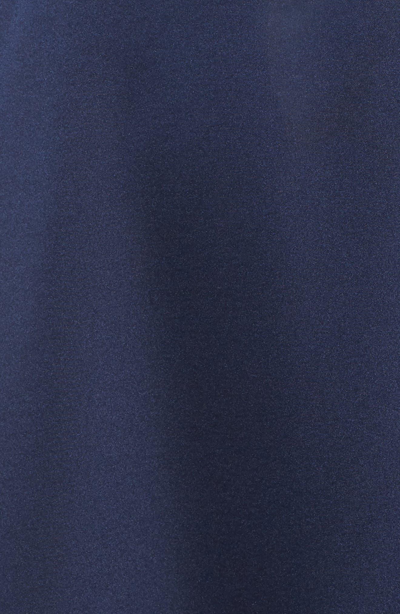 Marilyn Satin Faux Wrap Dress,                             Alternate thumbnail 6, color,                             NAVY