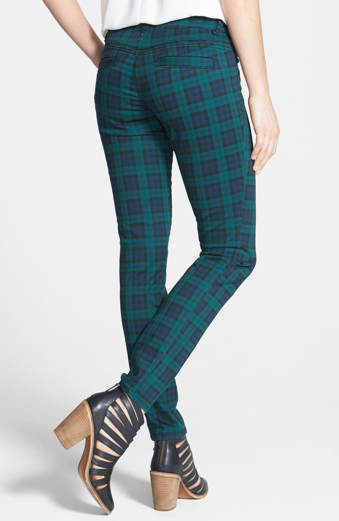 Plaid Skinny Pants,                             Alternate thumbnail 4, color,                             400