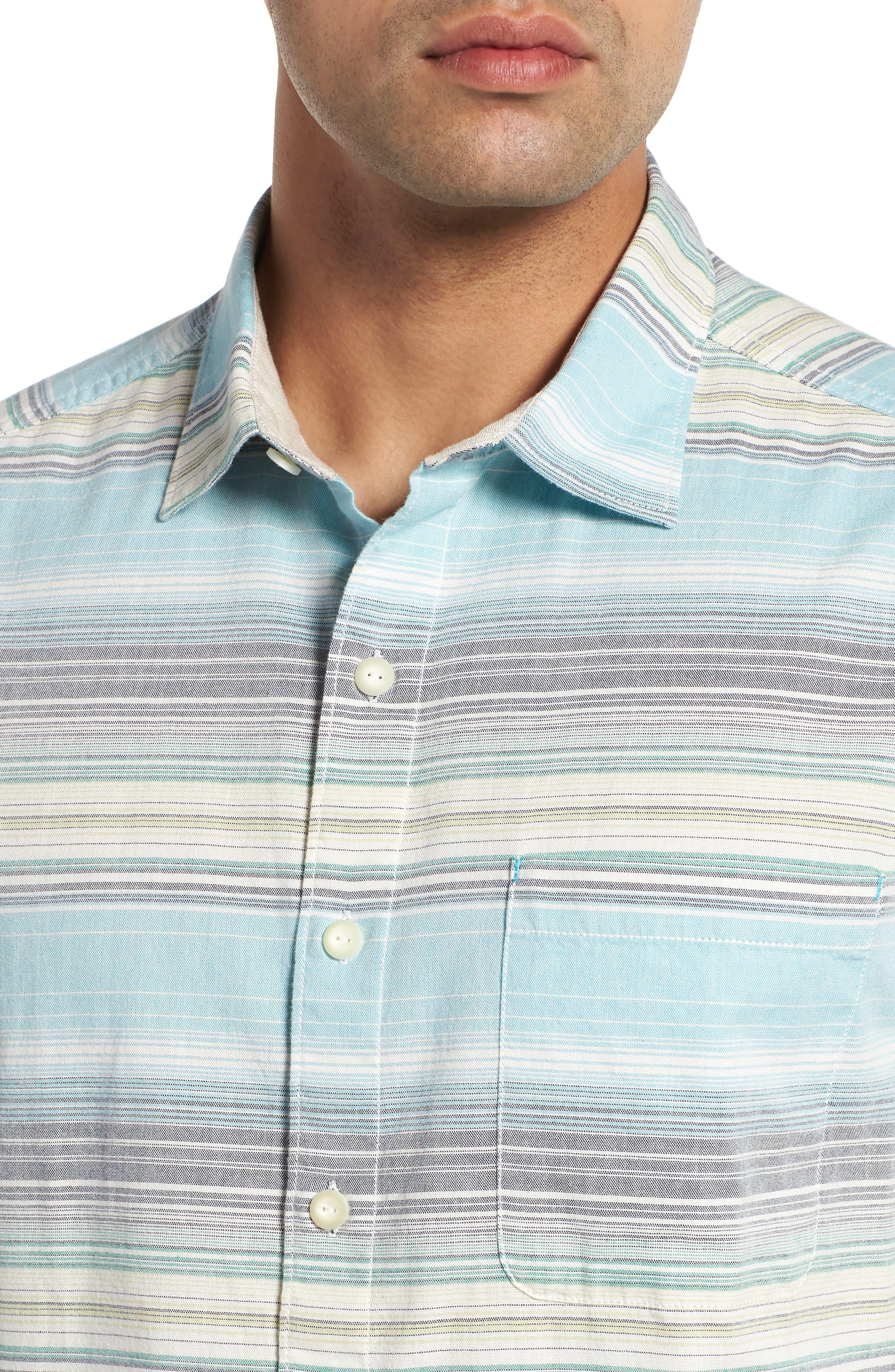 Somara Stripe Sport Shirt,                             Alternate thumbnail 2, color,                             AQUA MIST