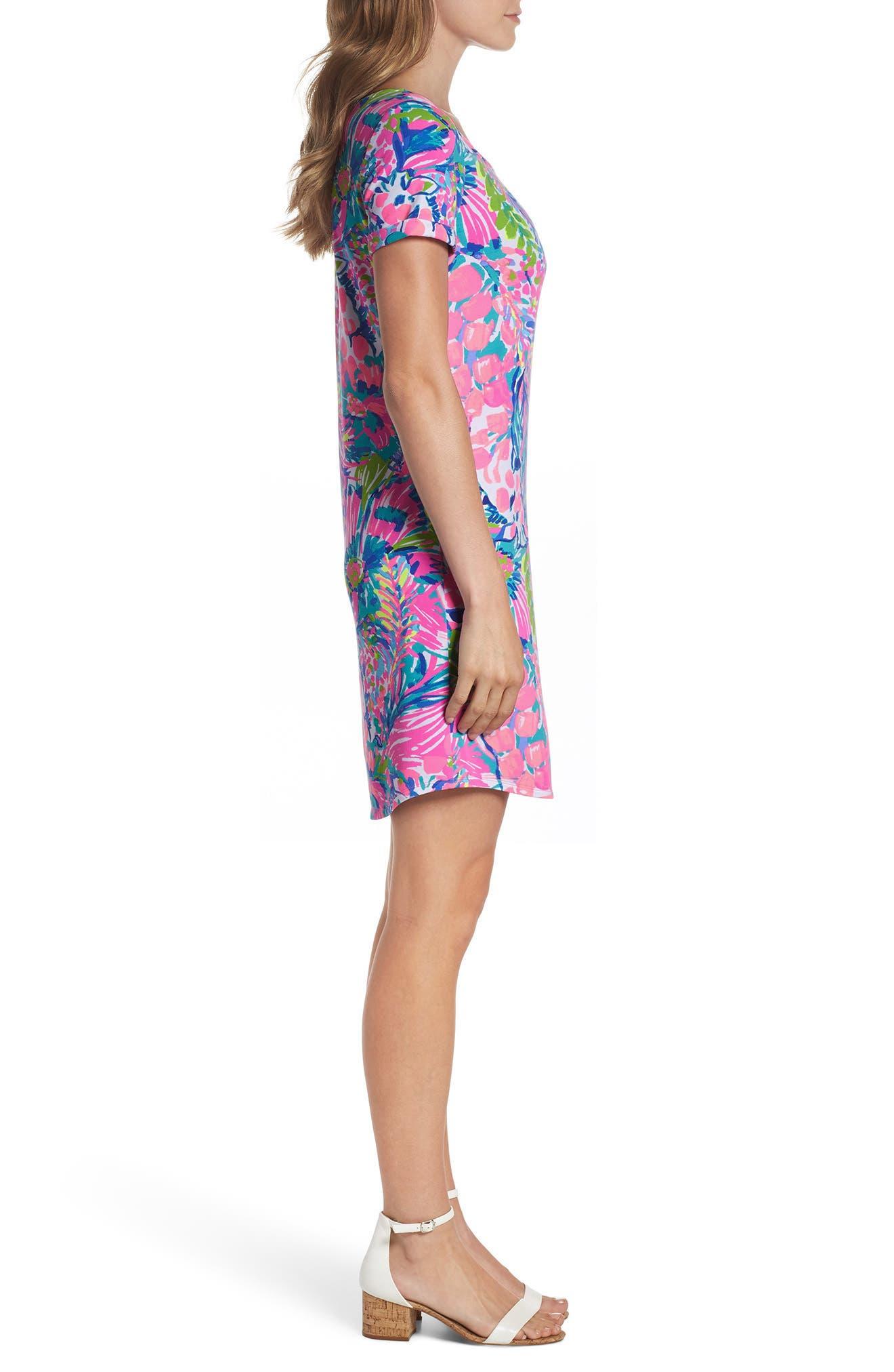 Tammy UPF 50+ Shift Dress,                             Alternate thumbnail 3, color,                             MULTI GUMBO LIMBO