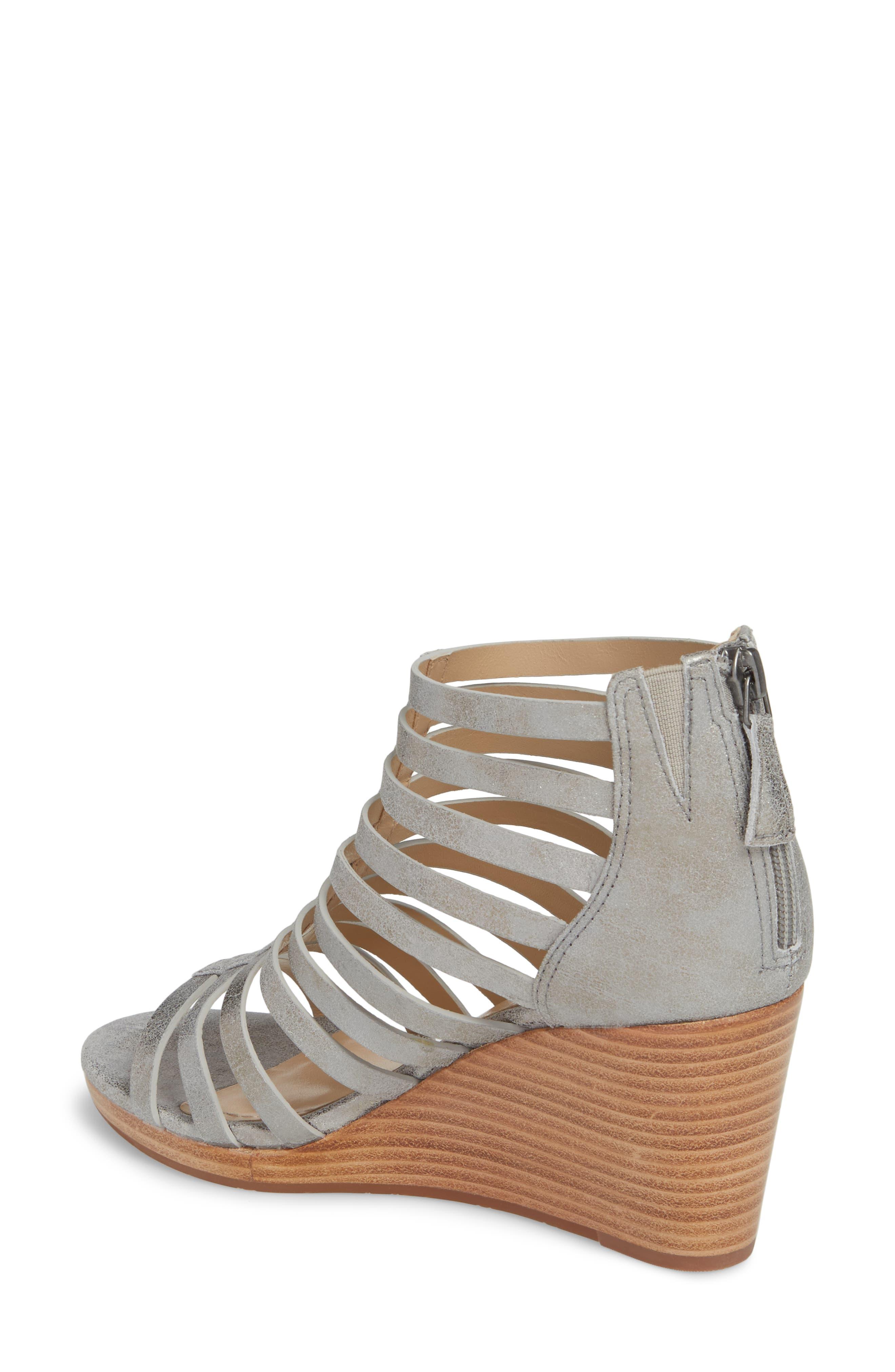 Geneva Strappy Wedge Sandal,                             Alternate thumbnail 3, color,