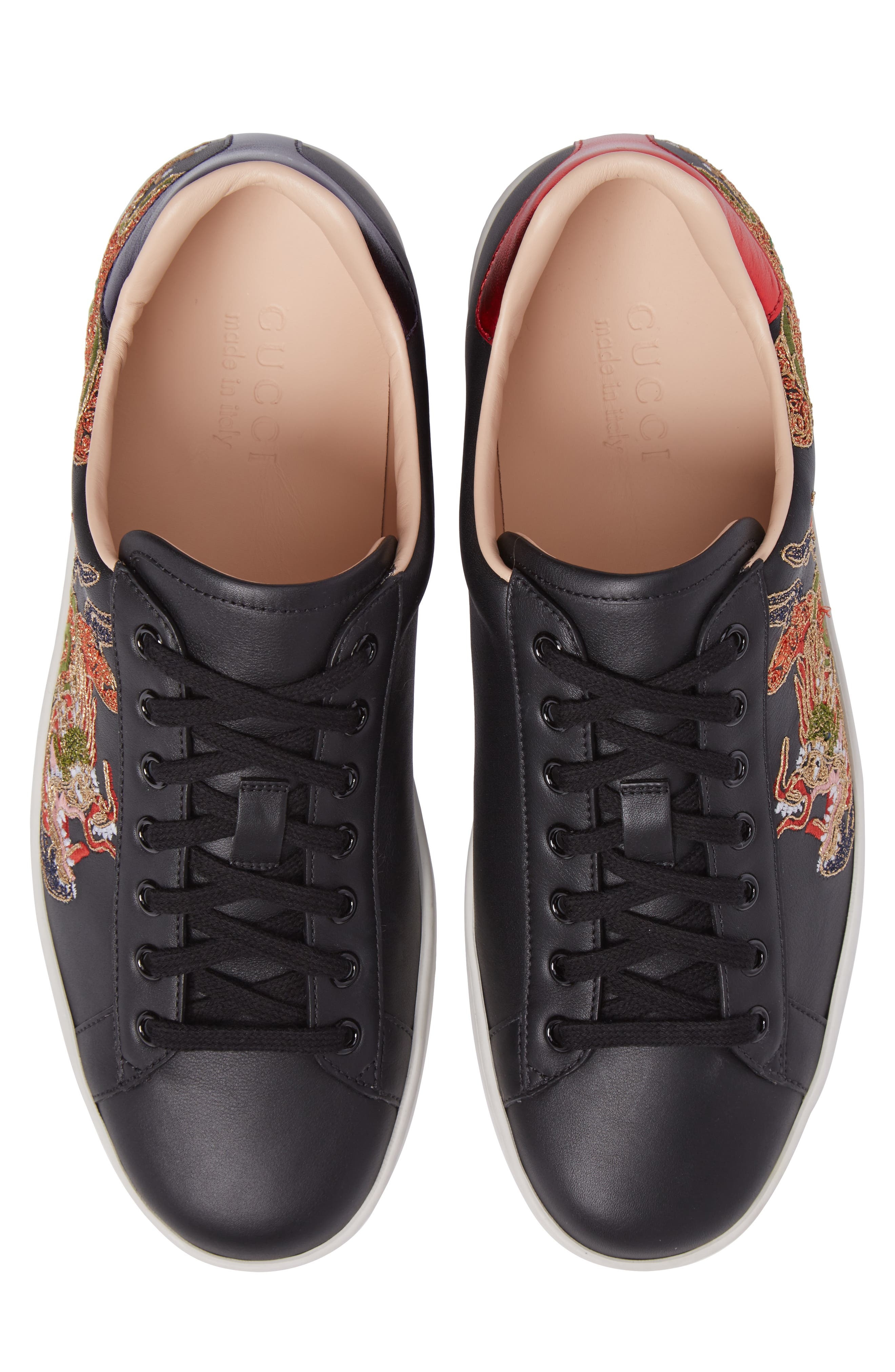 New Ace Embroidered Sneaker,                             Alternate thumbnail 5, color,