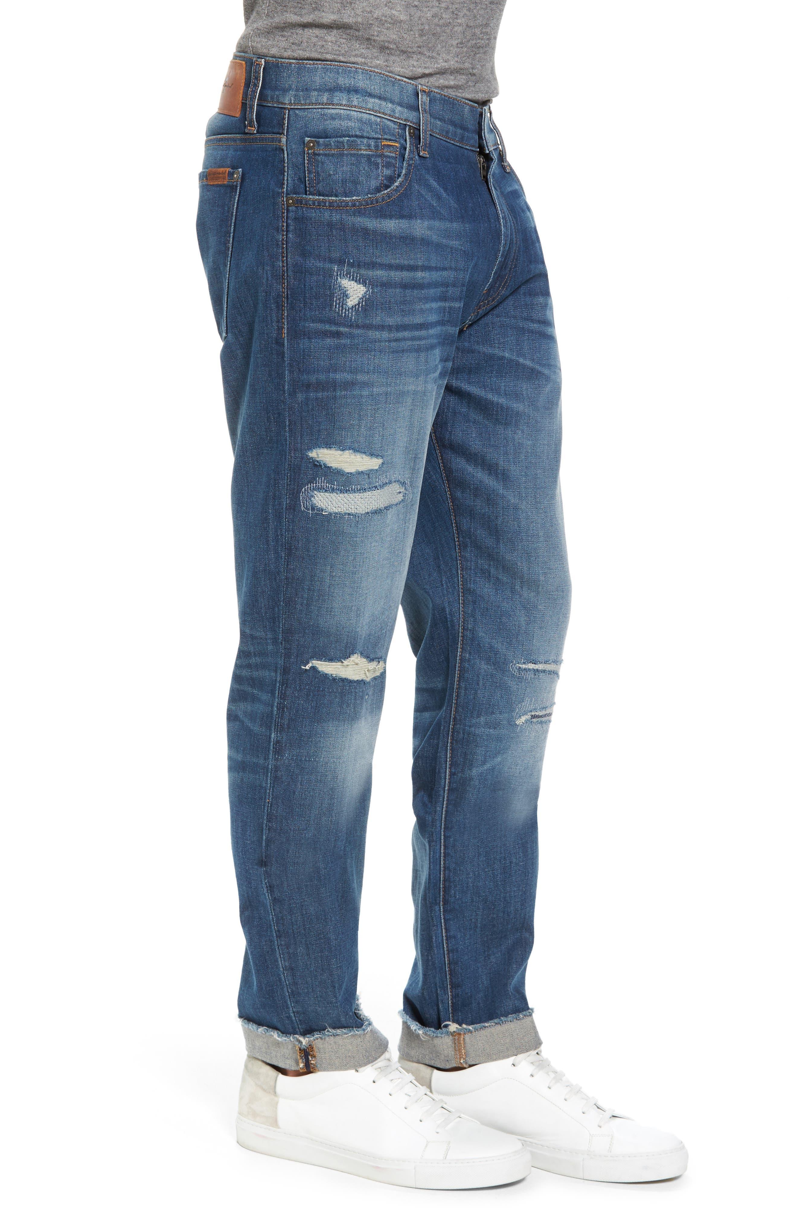 Adrien Slim Fit Jeans,                             Alternate thumbnail 3, color,                             403