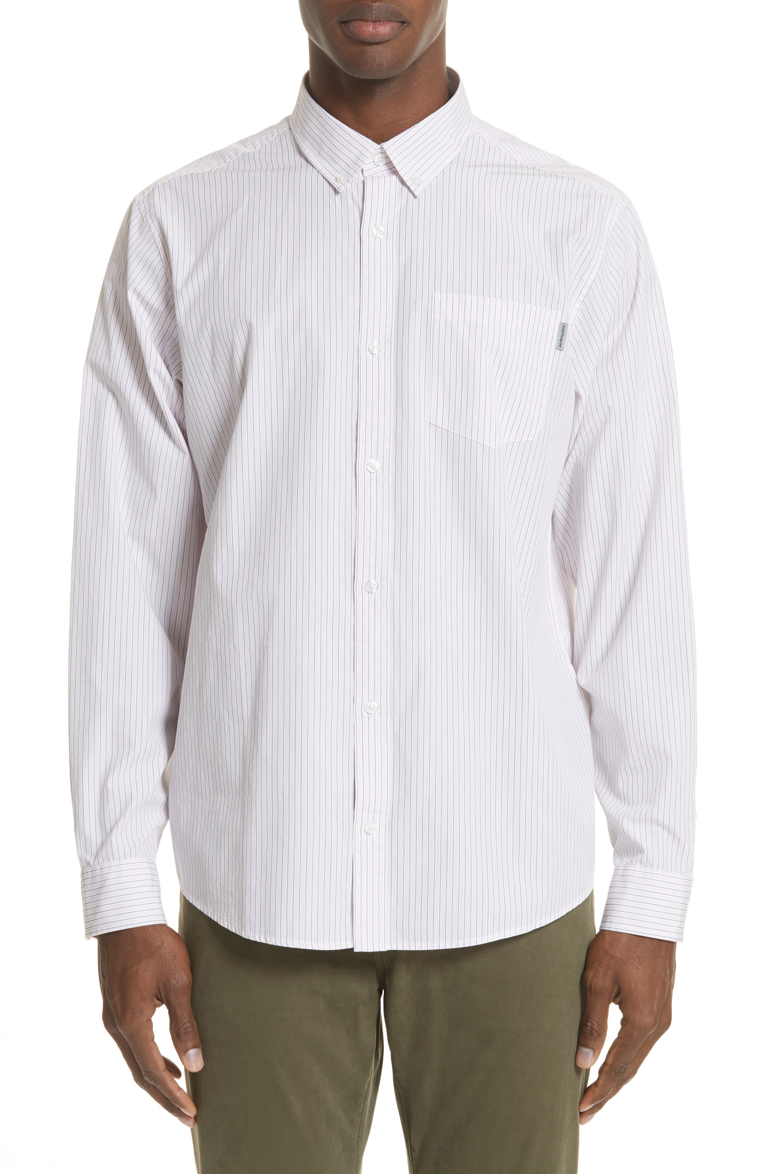 Crane Stripe Woven Shirt,                         Main,                         color, 630