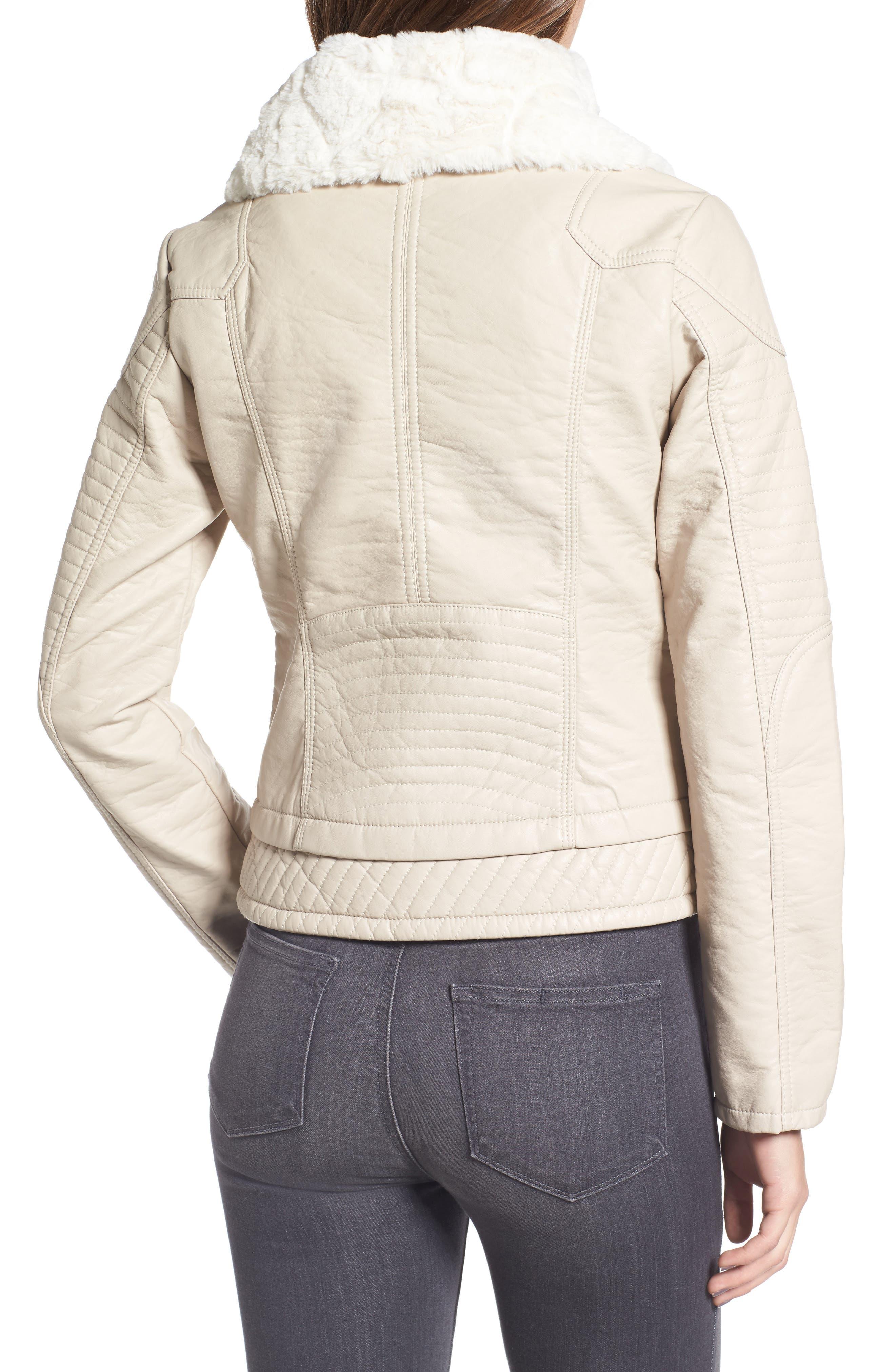 Faux Fur Collar Jacket,                             Alternate thumbnail 2, color,                             077
