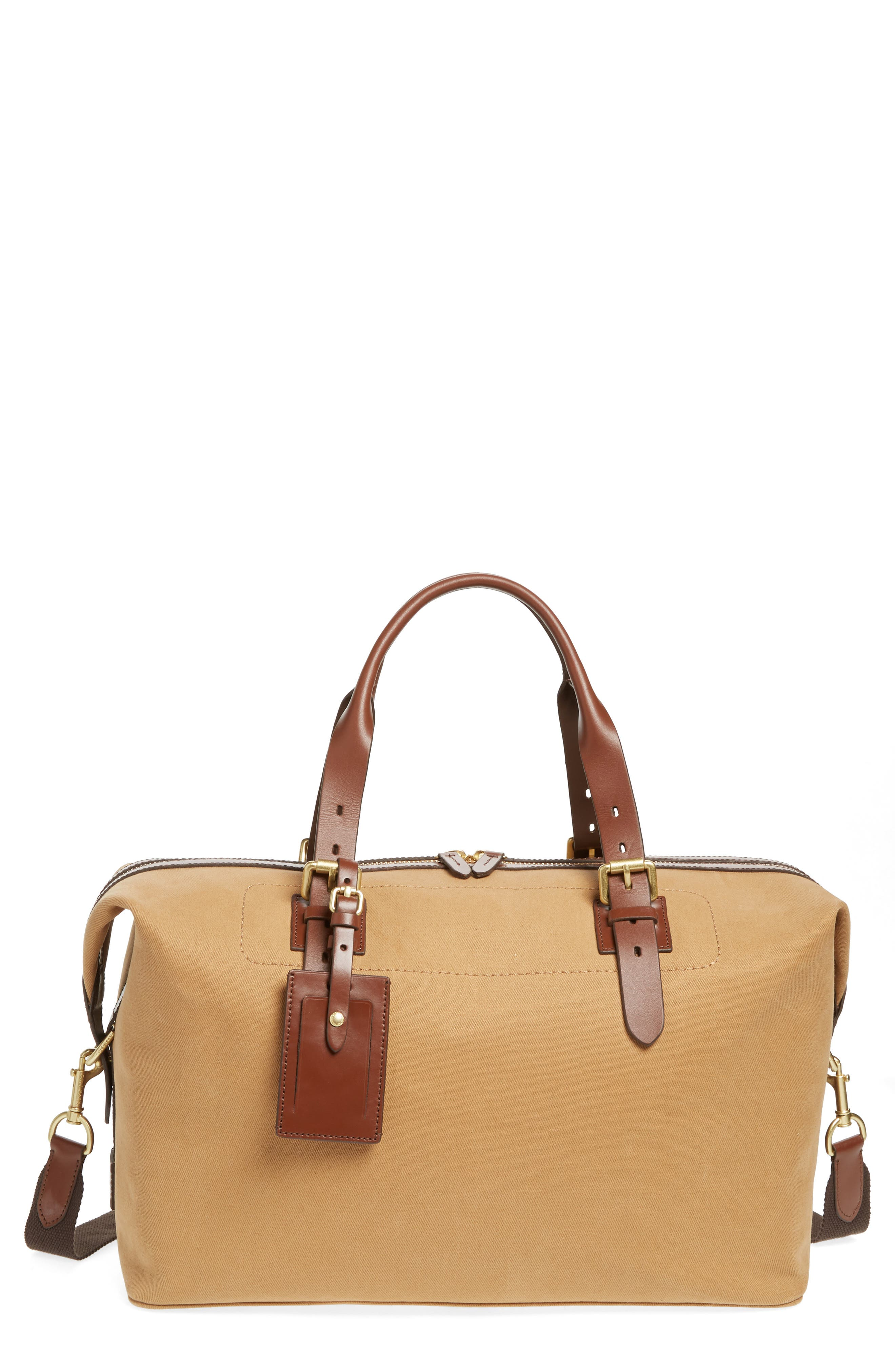 Canvas Duffel Bag,                             Main thumbnail 1, color,                             ICED COFFEE