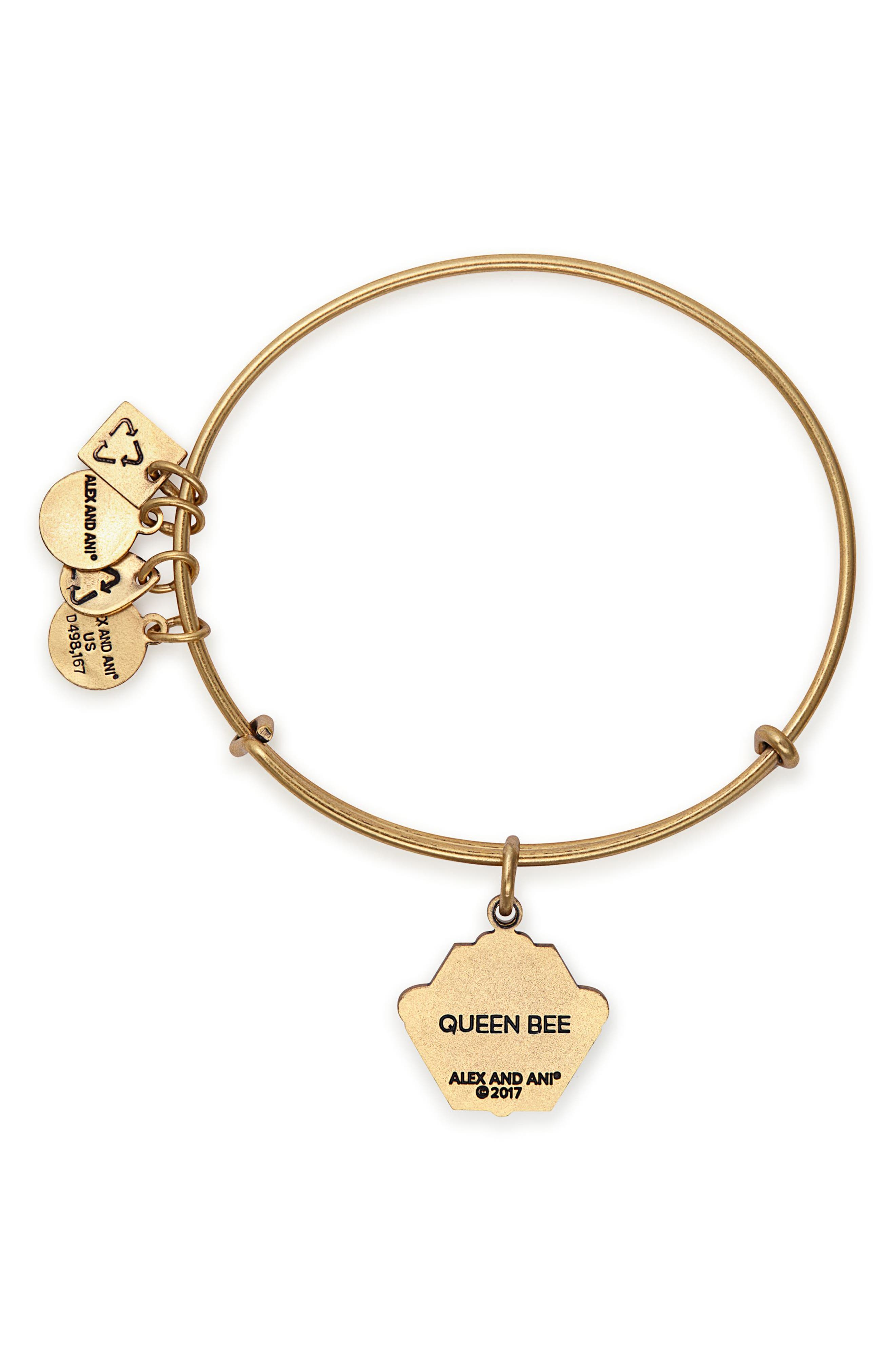 Charity by Design Queen Bee Adjustable Bangle,                             Alternate thumbnail 4, color,