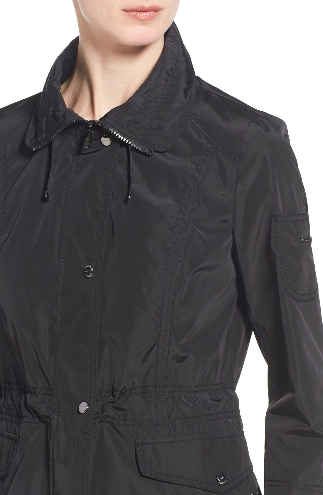 Windbreaker with Lace-Up Sides,                             Alternate thumbnail 5, color,                             001