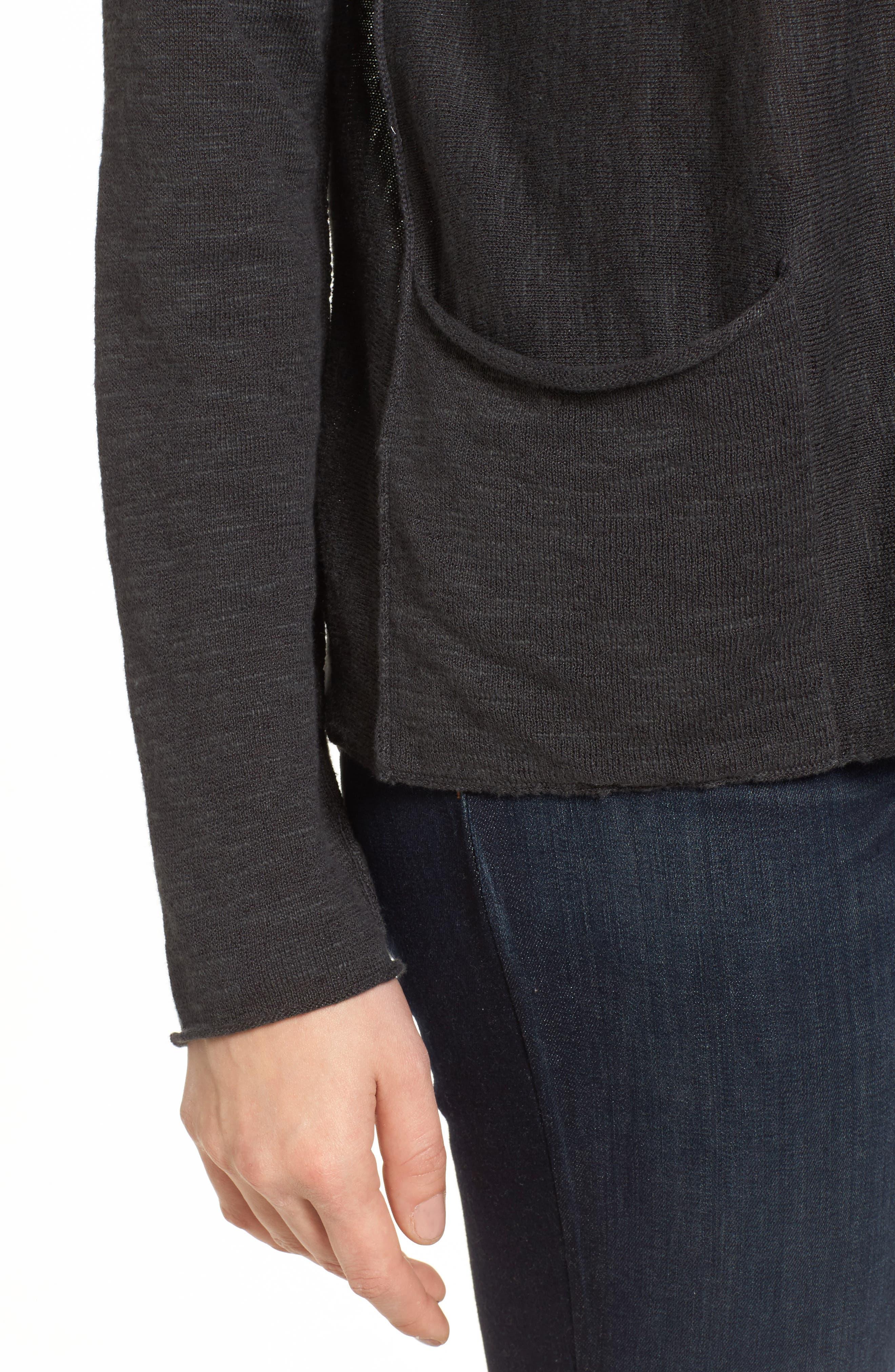 Organic Linen & Cotton Knit Boxy Top,                             Alternate thumbnail 4, color,                             021