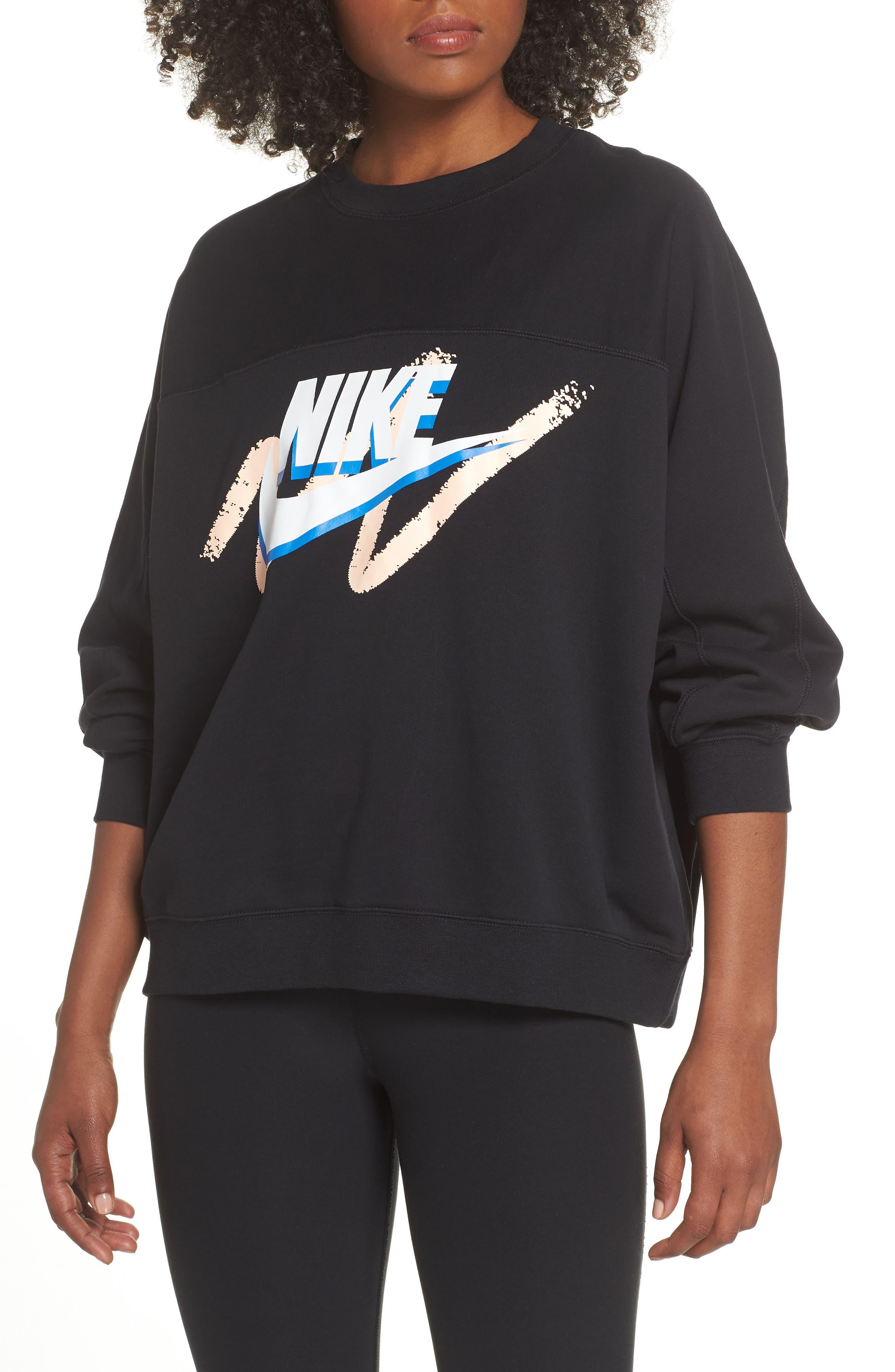 Archive Sweatshirt,                             Main thumbnail 1, color,                             BLACK/ BLACK/ BLACK