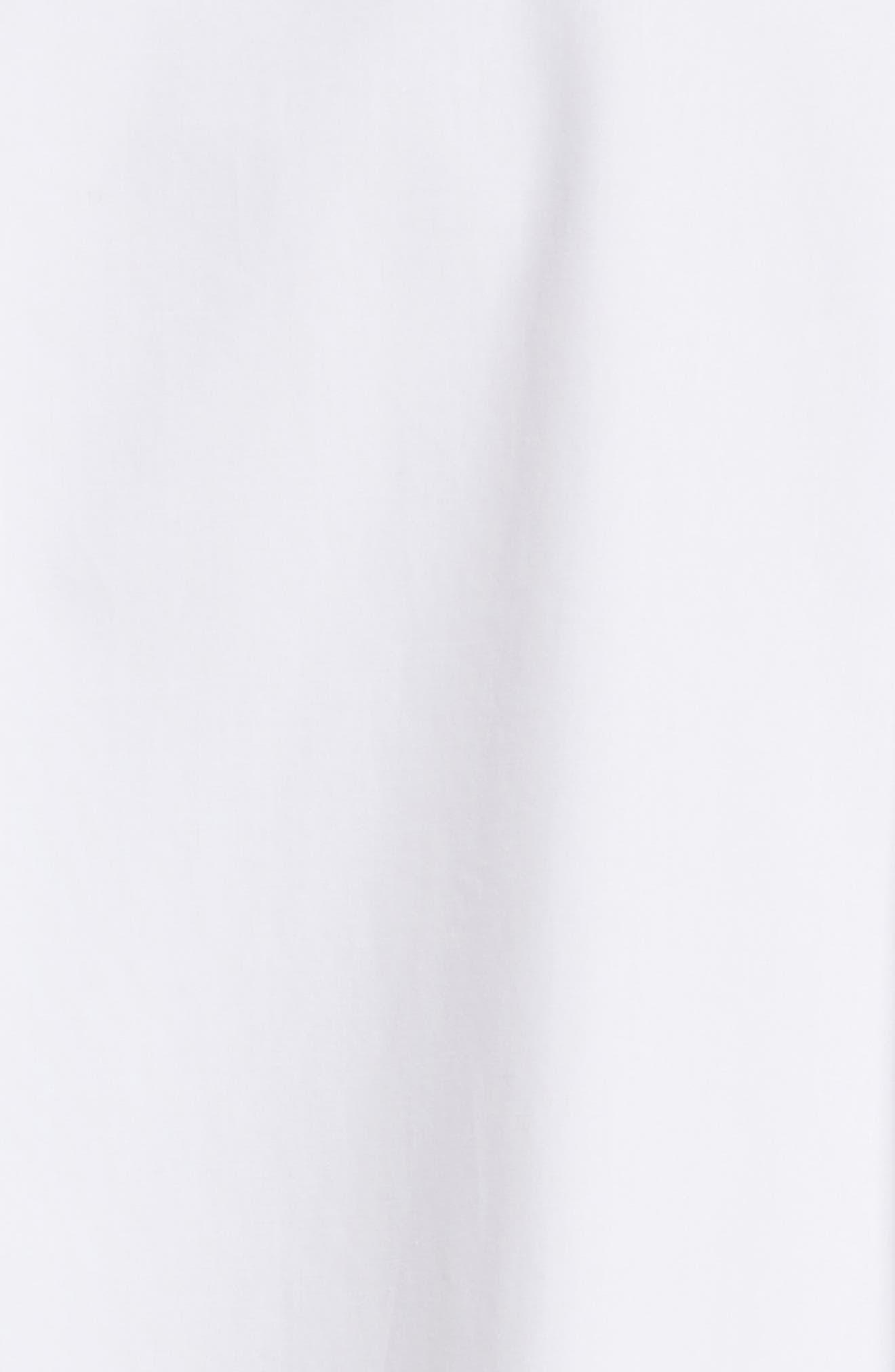 Isac Poplin Midi Dress,                             Alternate thumbnail 5, color,                             100