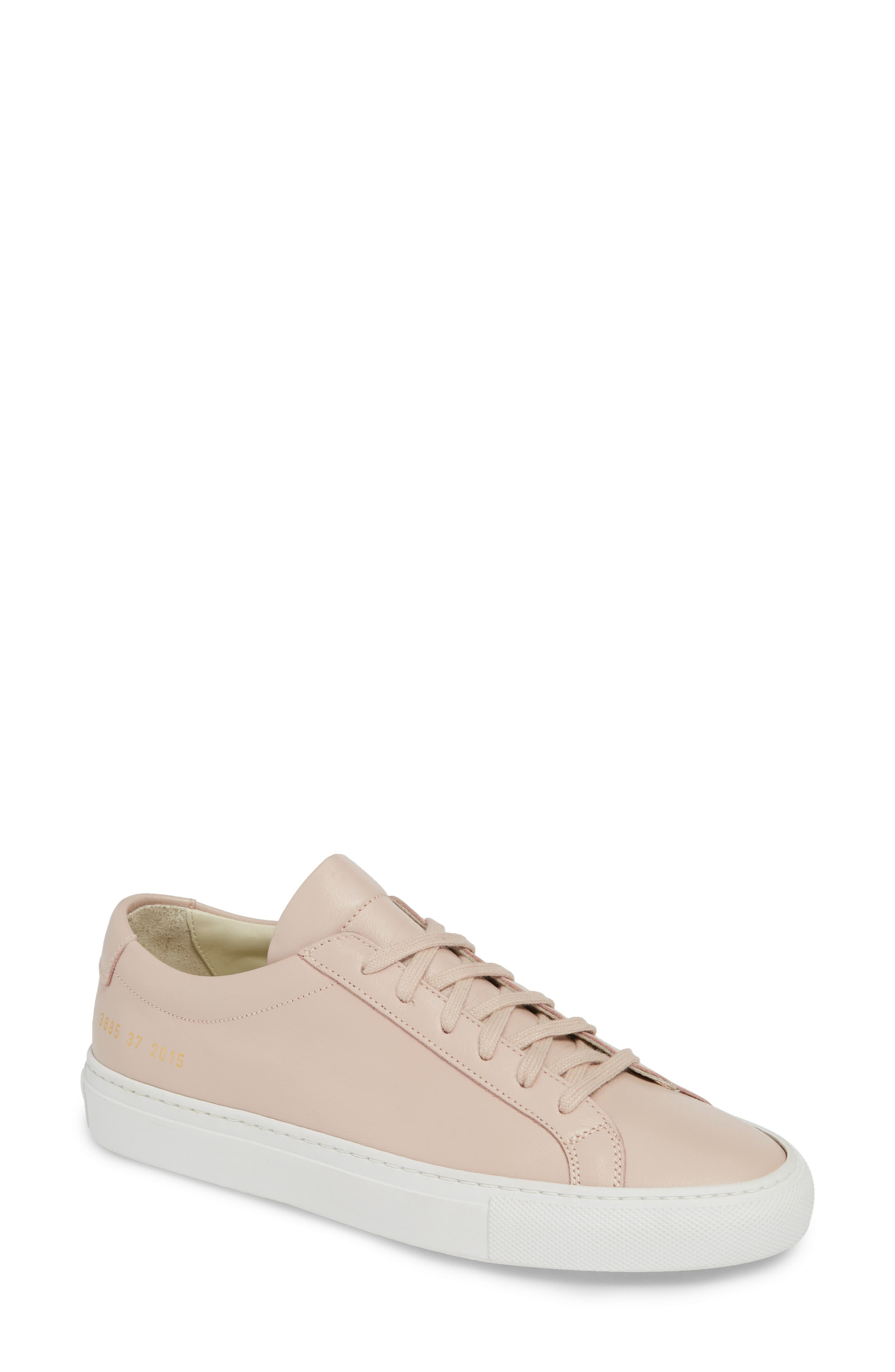 COMMON PROJECTS,                             Original Achilles Sneaker,                             Main thumbnail 1, color,                             BLUSH