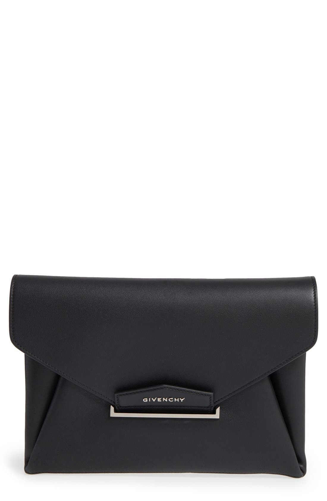 'Medium Antigona' Leather Envelope Clutch,                         Main,                         color, 001