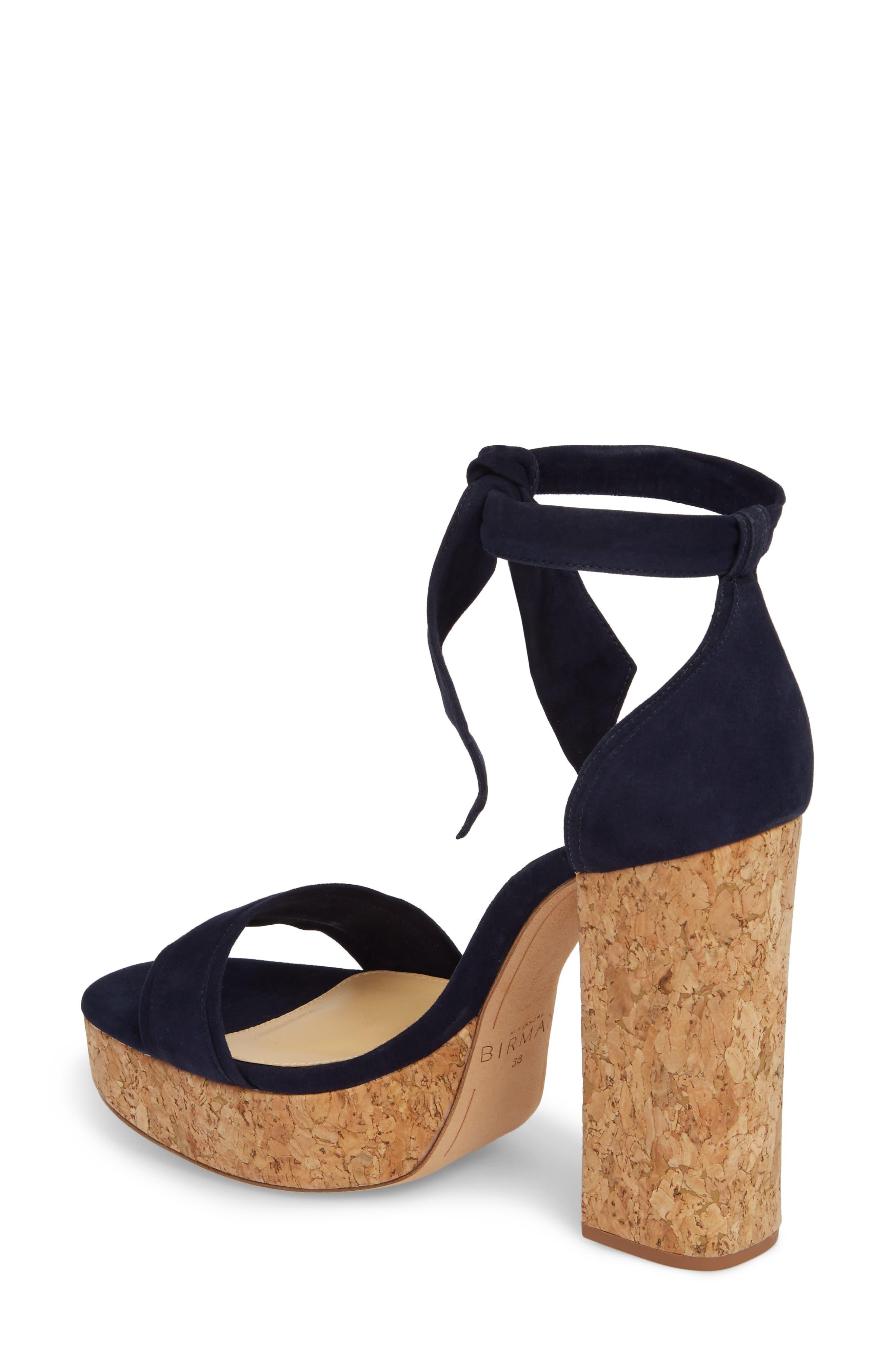 Celine Ankle Tie Platform Sandal,                             Alternate thumbnail 2, color,                             400