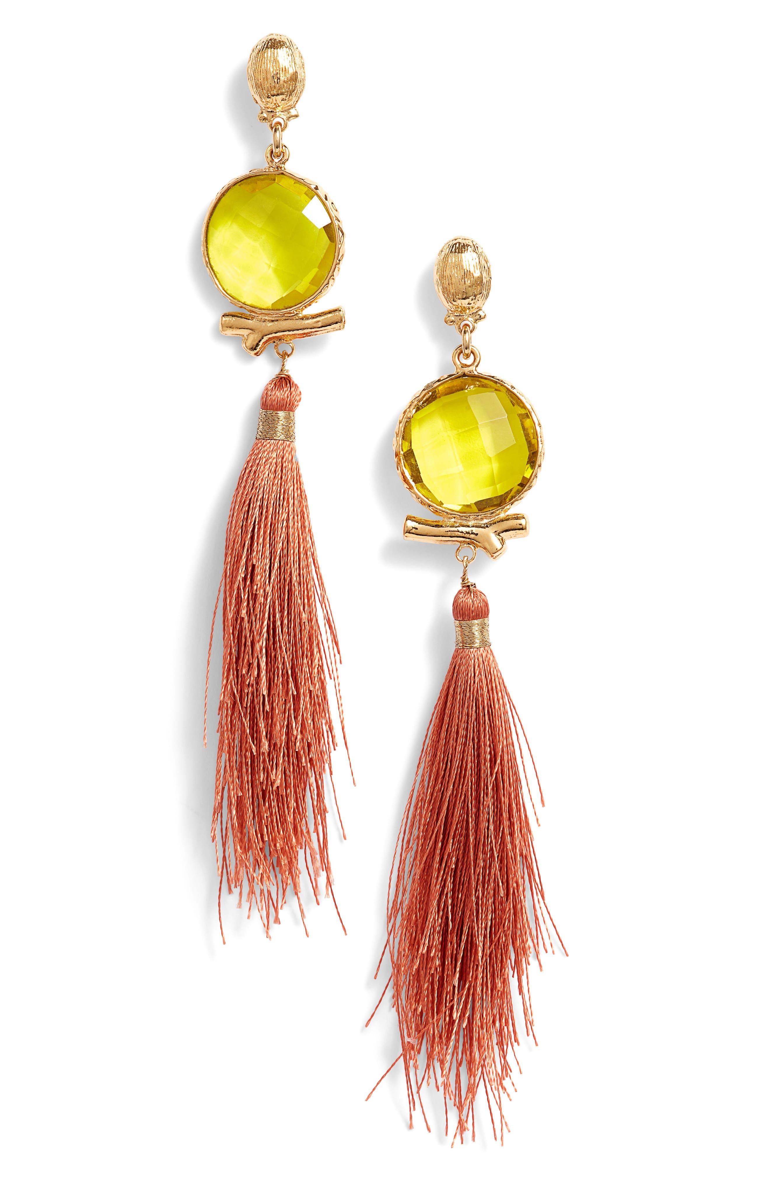 Serti Bella Drop Earrings,                         Main,                         color, GREEN / RED