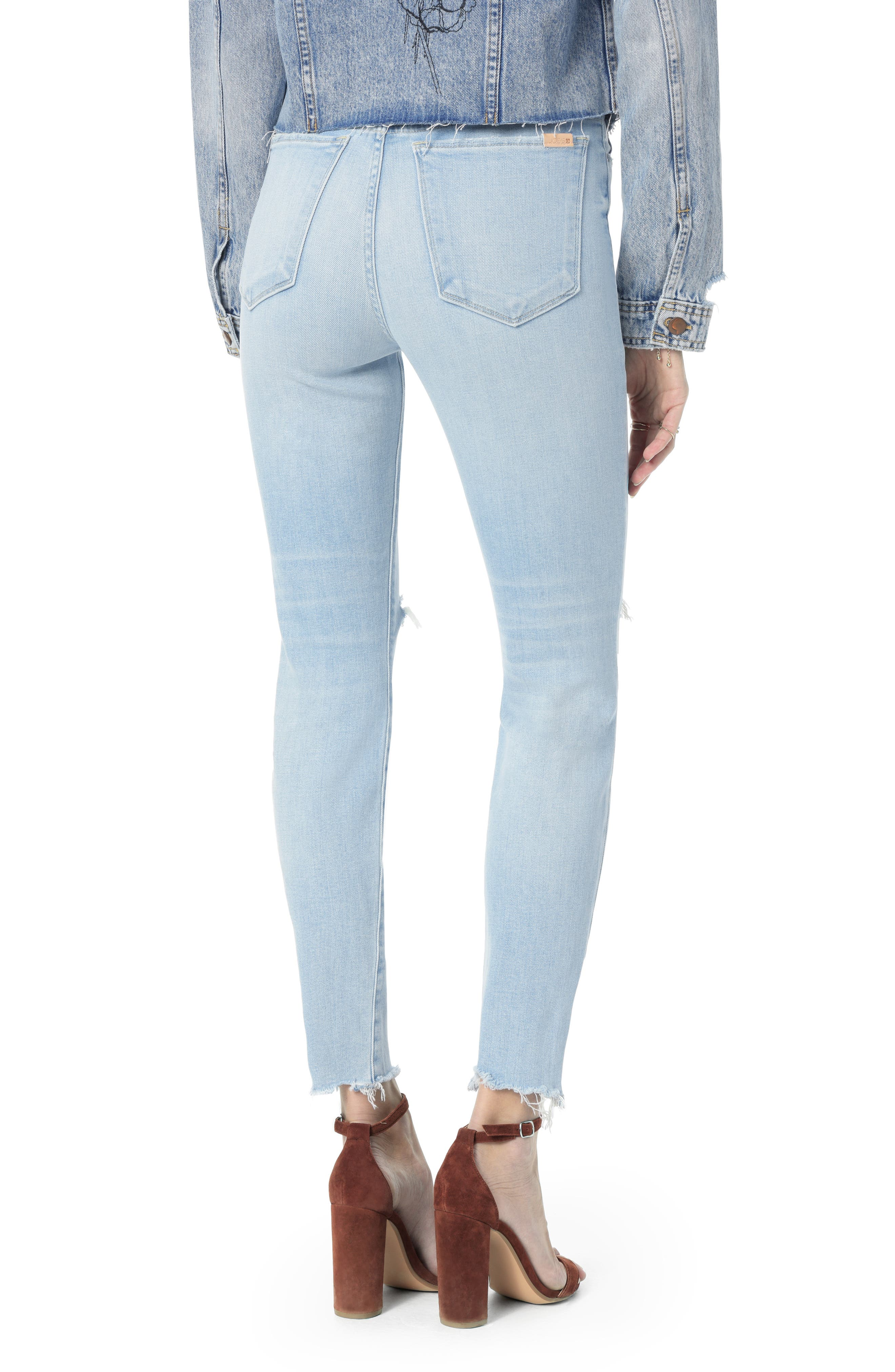 JOE'S,                             Icon Ripped Ankle Skinny Jeans,                             Alternate thumbnail 2, color,                             DENICE