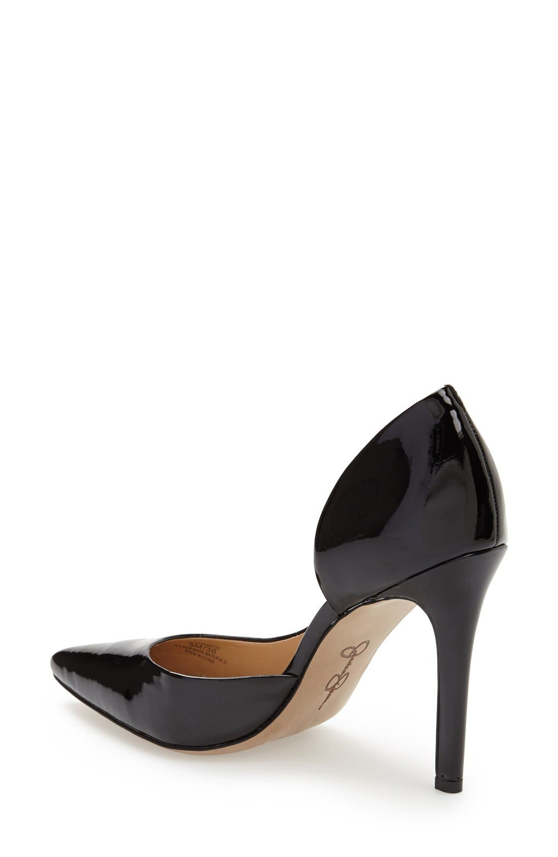 JESSICA SIMPSON,                             'Claudette' Half d'Orsay Pump,                             Alternate thumbnail 2, color,                             001