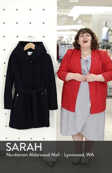Belted Bouclé Wool Blend Coat, sales video thumbnail