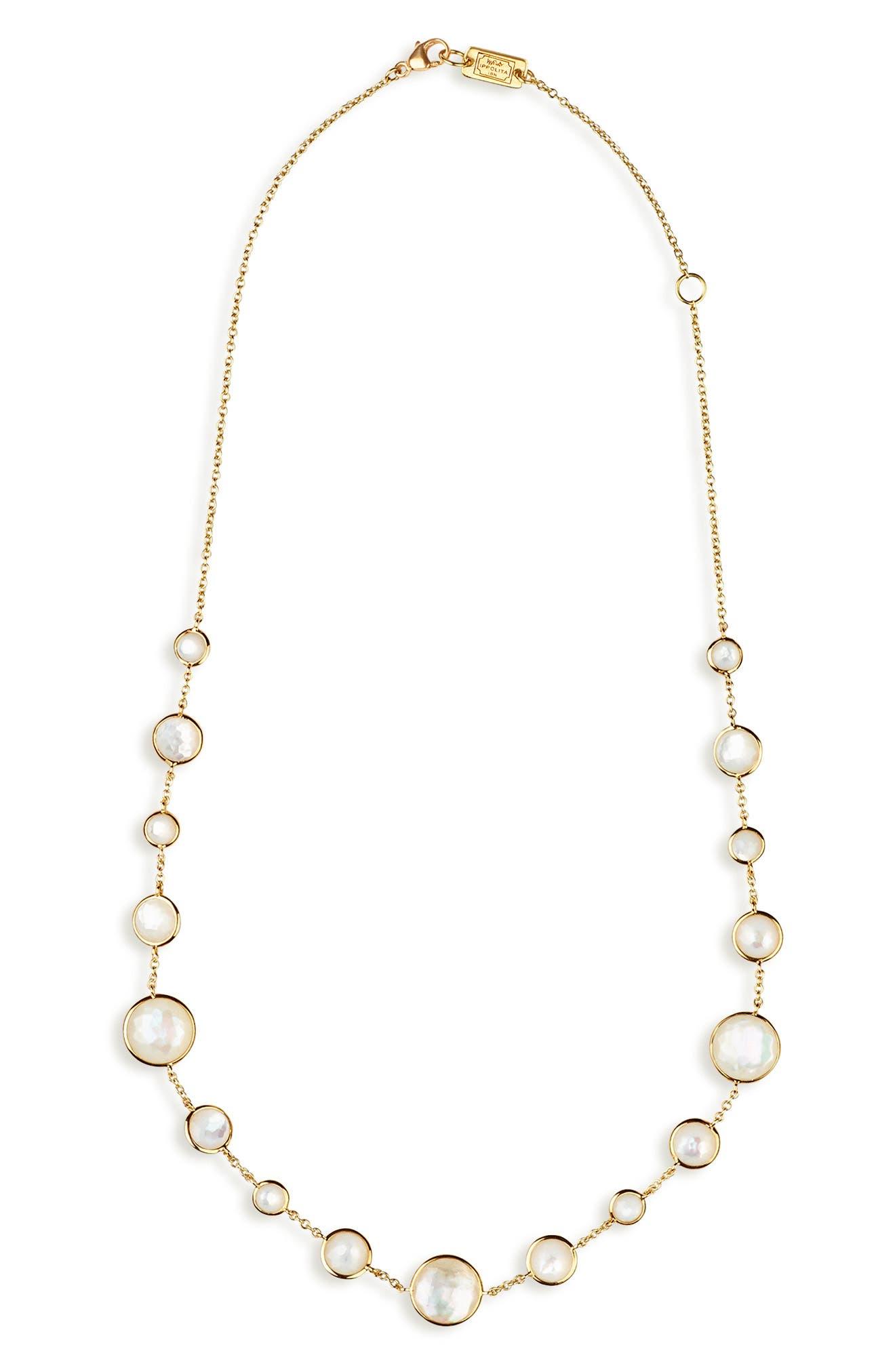 Lollipop Lollitini Necklace,                             Main thumbnail 1, color,                             GOLD/ PEARLS