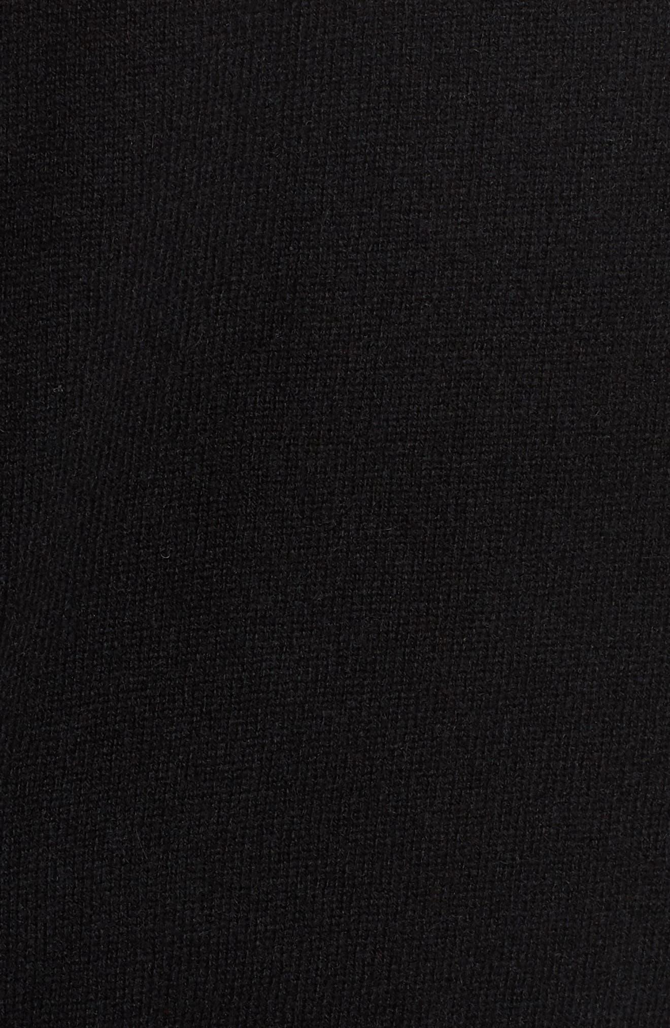 Intarsia Logo Wool & Cashmere Sweater,                             Alternate thumbnail 6, color,                             001