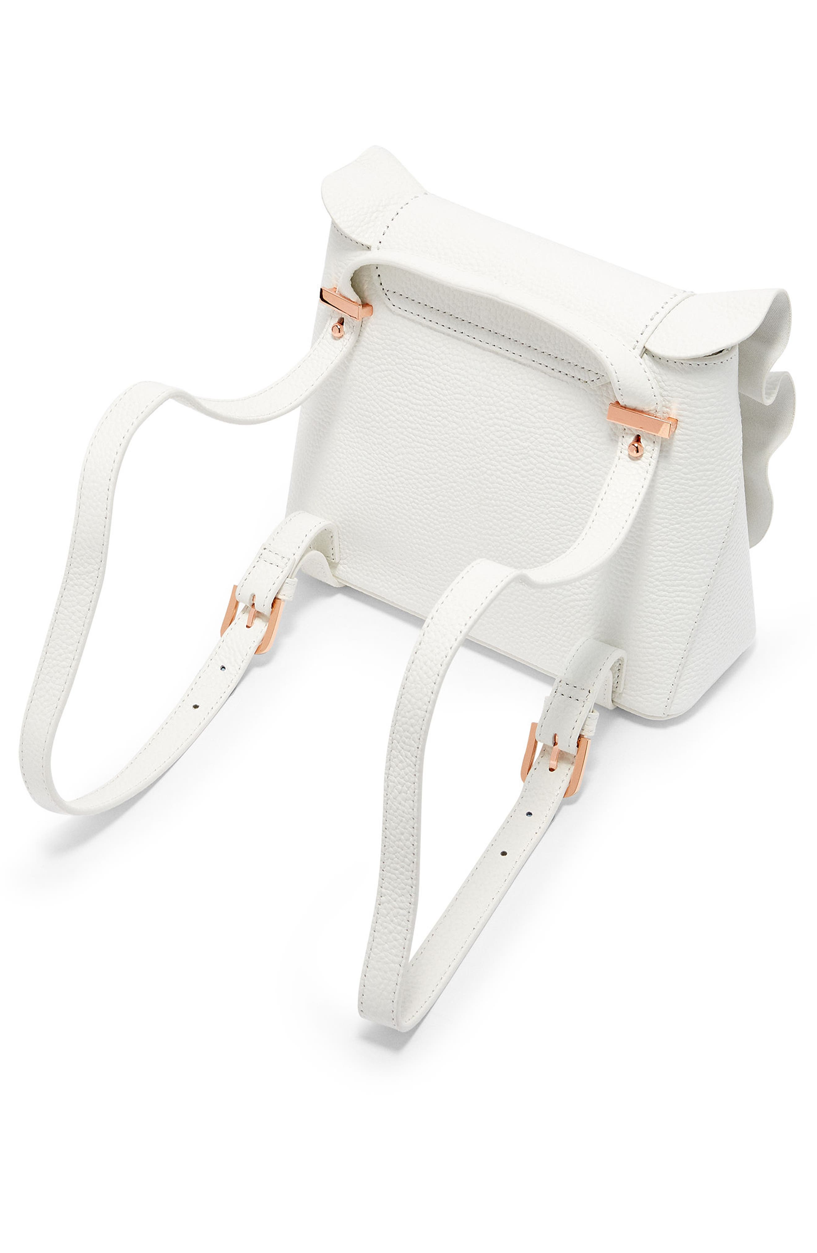Rammira Leather Convertible Backpack,                             Alternate thumbnail 2, color,                             WHITE