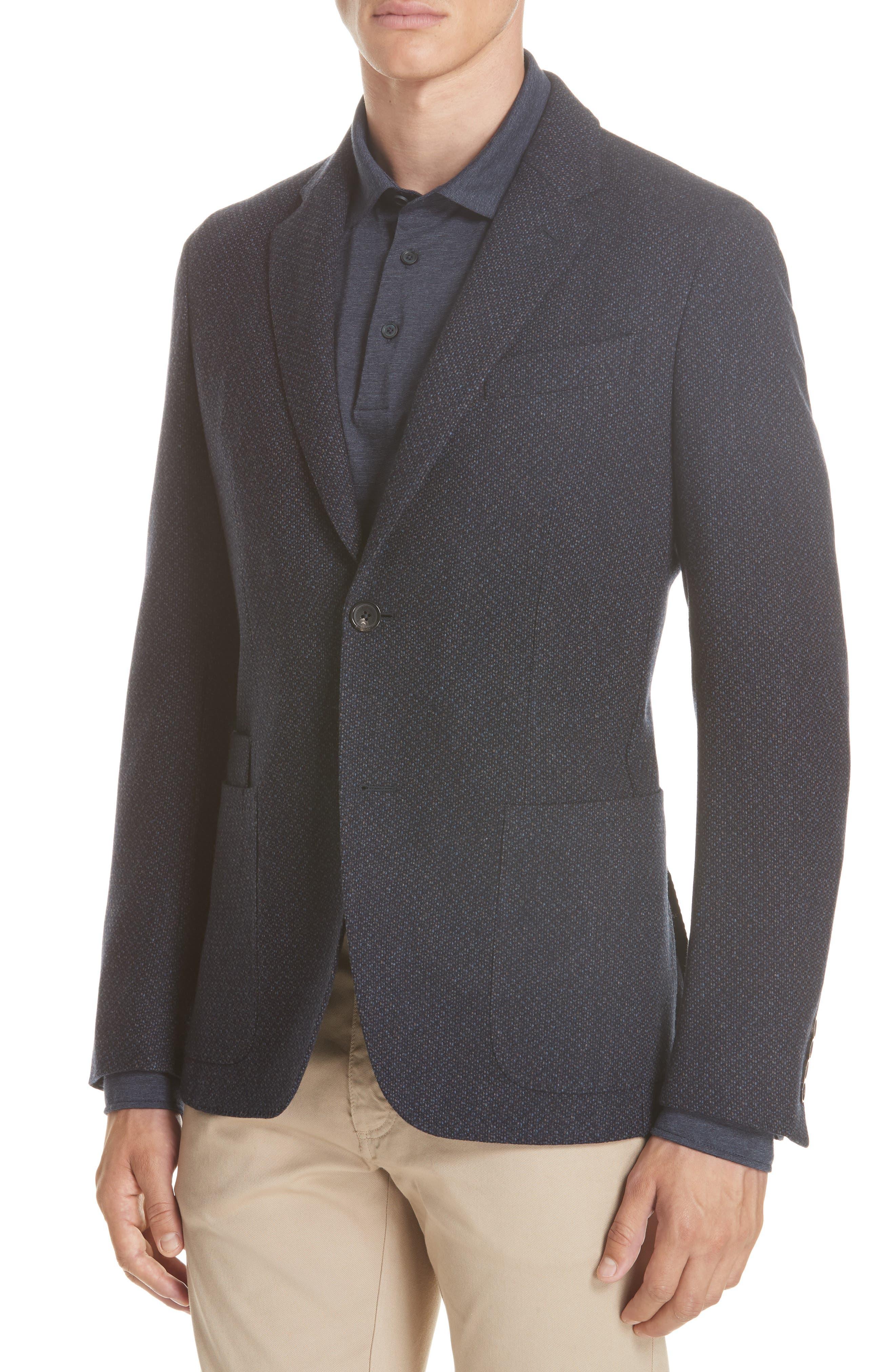 Trim Fit Wool & Cashmere Sport Coat,                             Alternate thumbnail 4, color,                             416