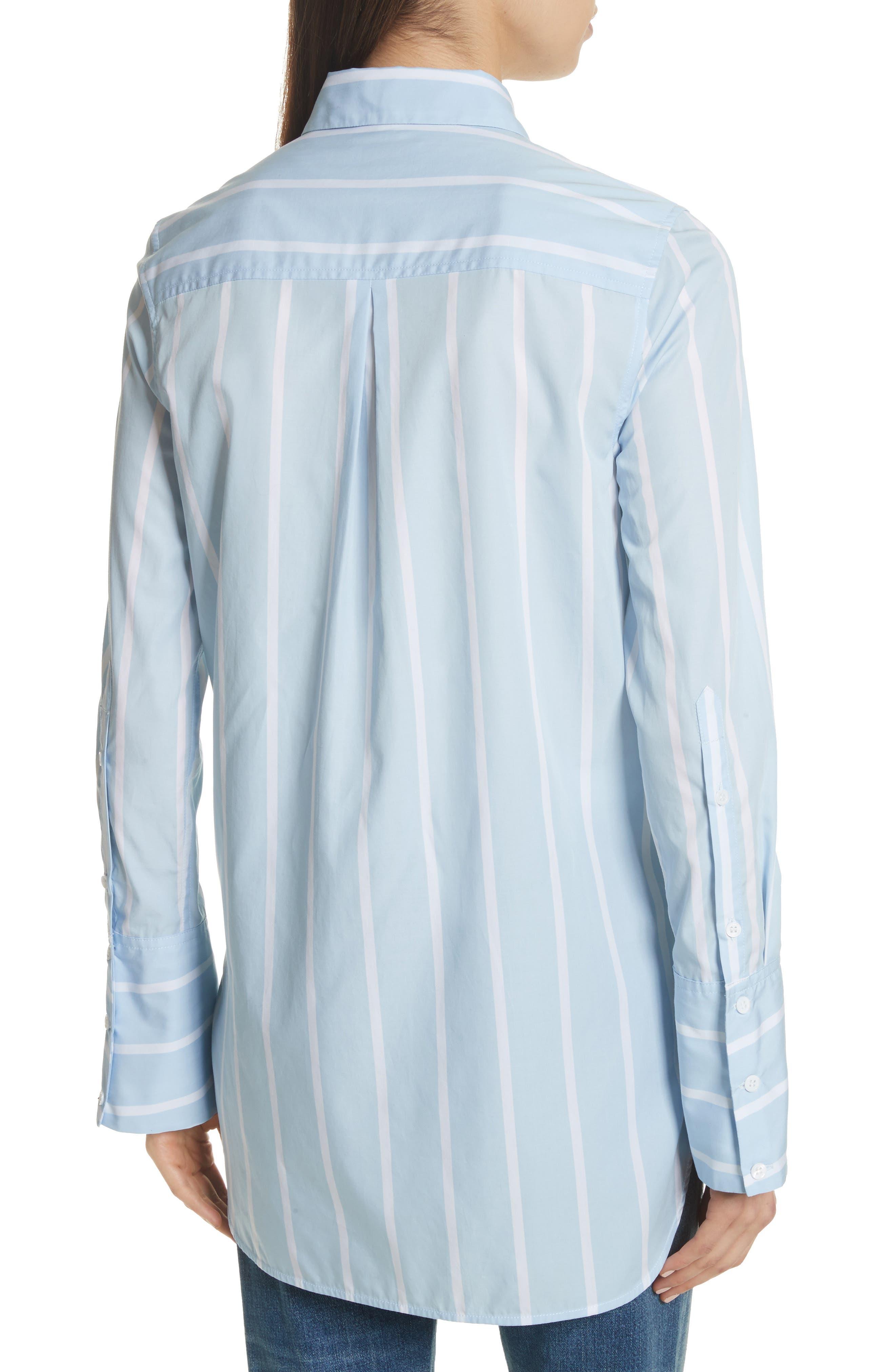 Arlette Stripe Cotton Shirt,                             Alternate thumbnail 2, color,                             498