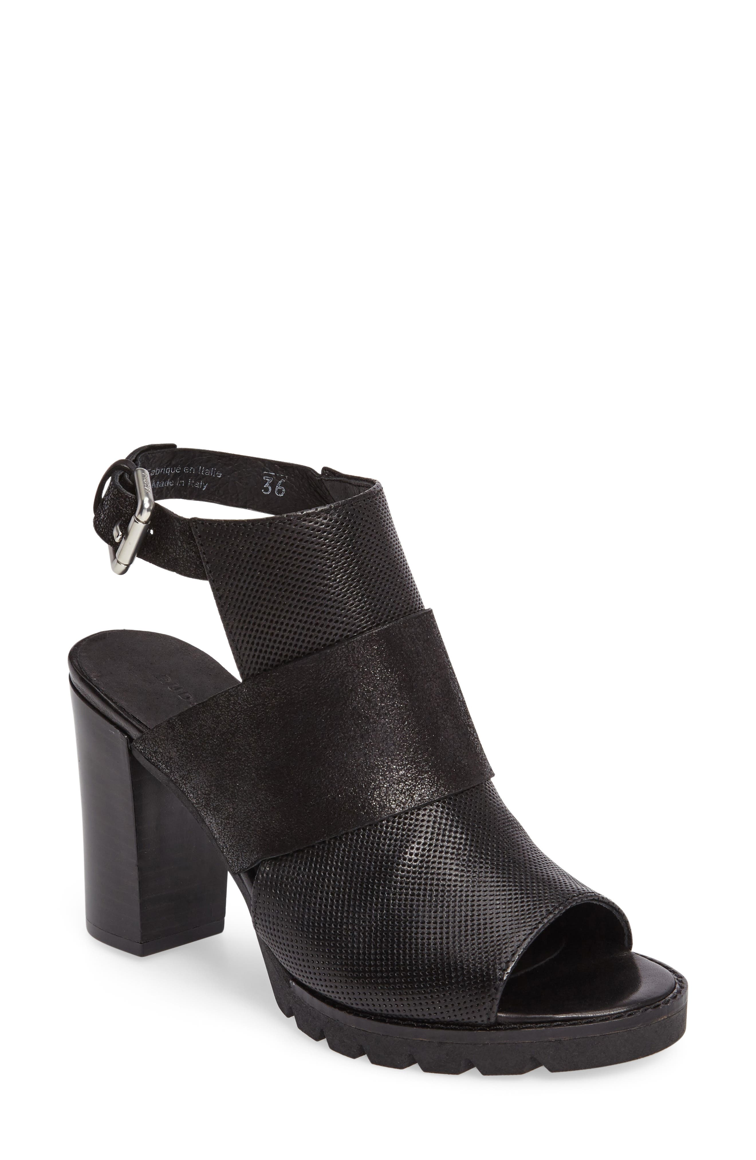Brittni Block Heel Sandal,                             Main thumbnail 1, color,                             001