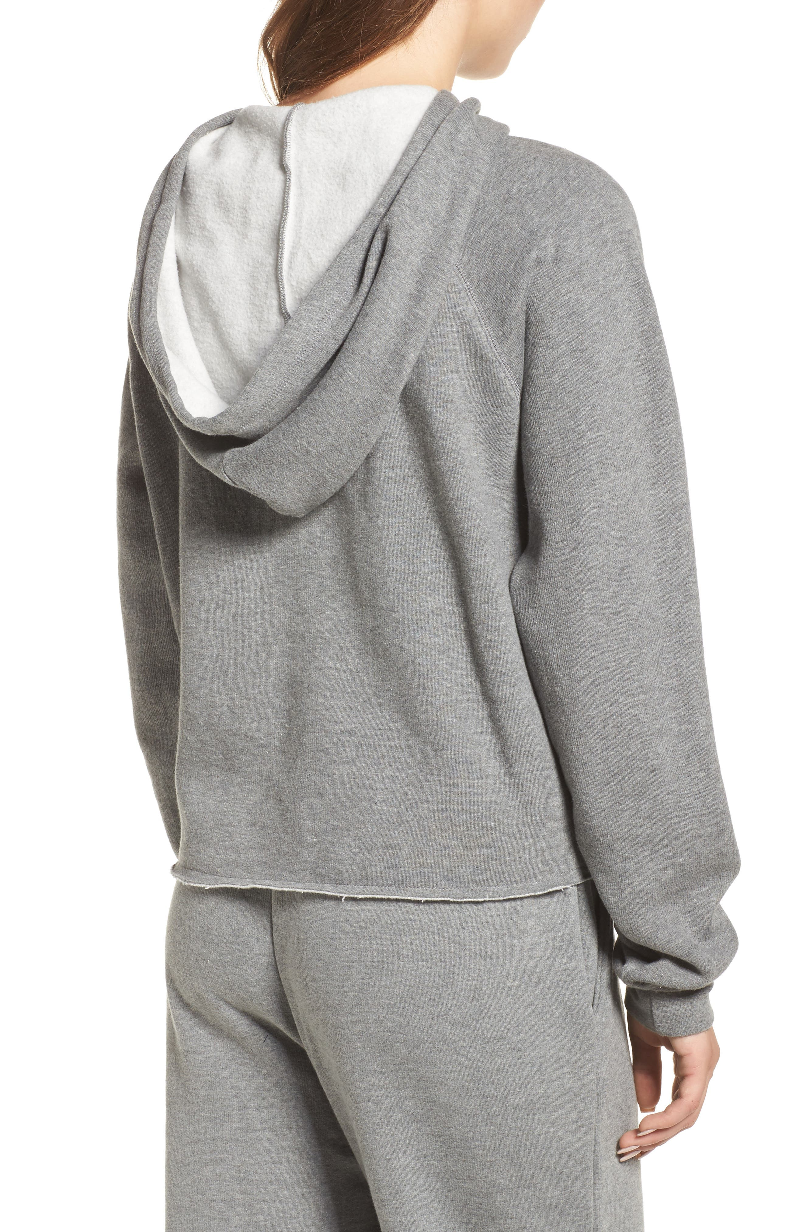 Brunette Raw Hem Hoodie,                             Alternate thumbnail 2, color,                             020