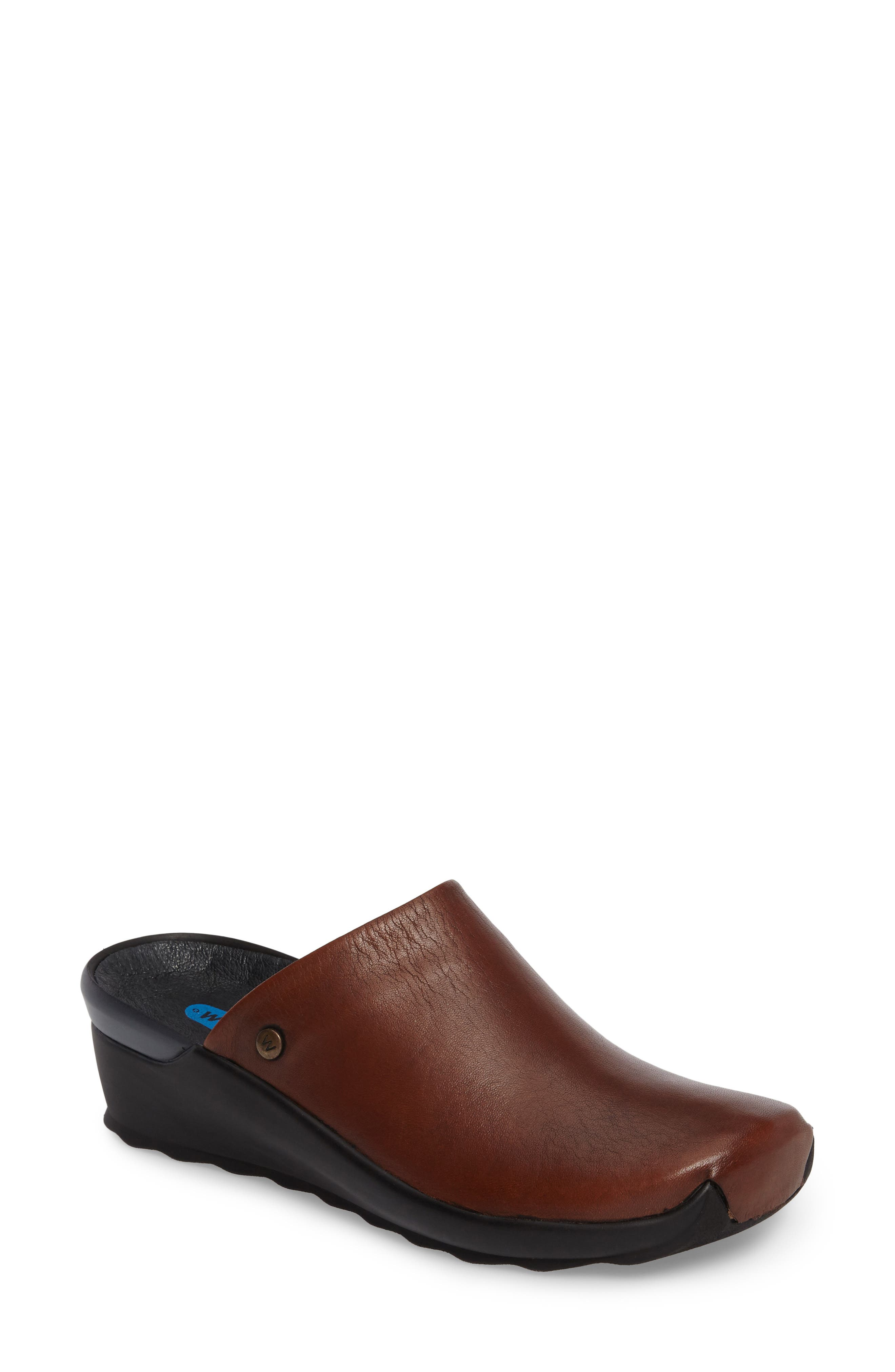 Go Clog,                             Main thumbnail 1, color,                             COGNAC LEATHER