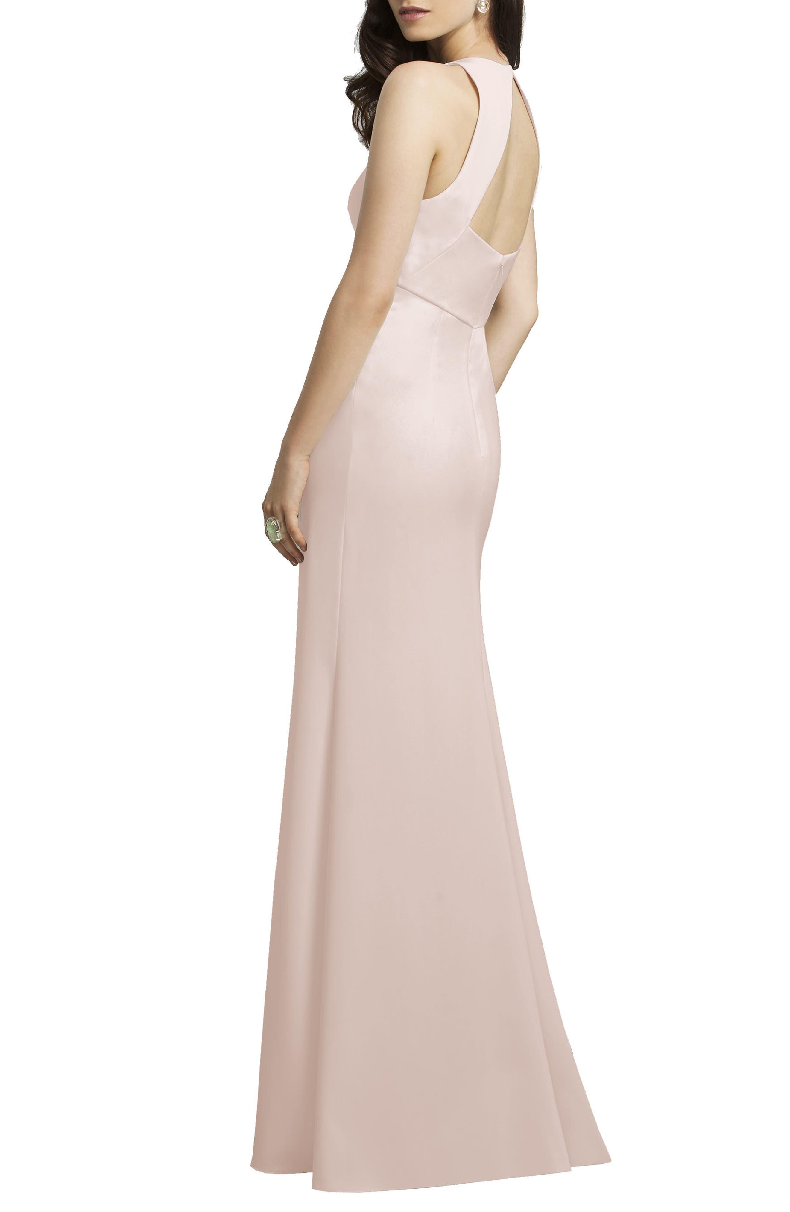 Crepe Gown,                             Alternate thumbnail 8, color,