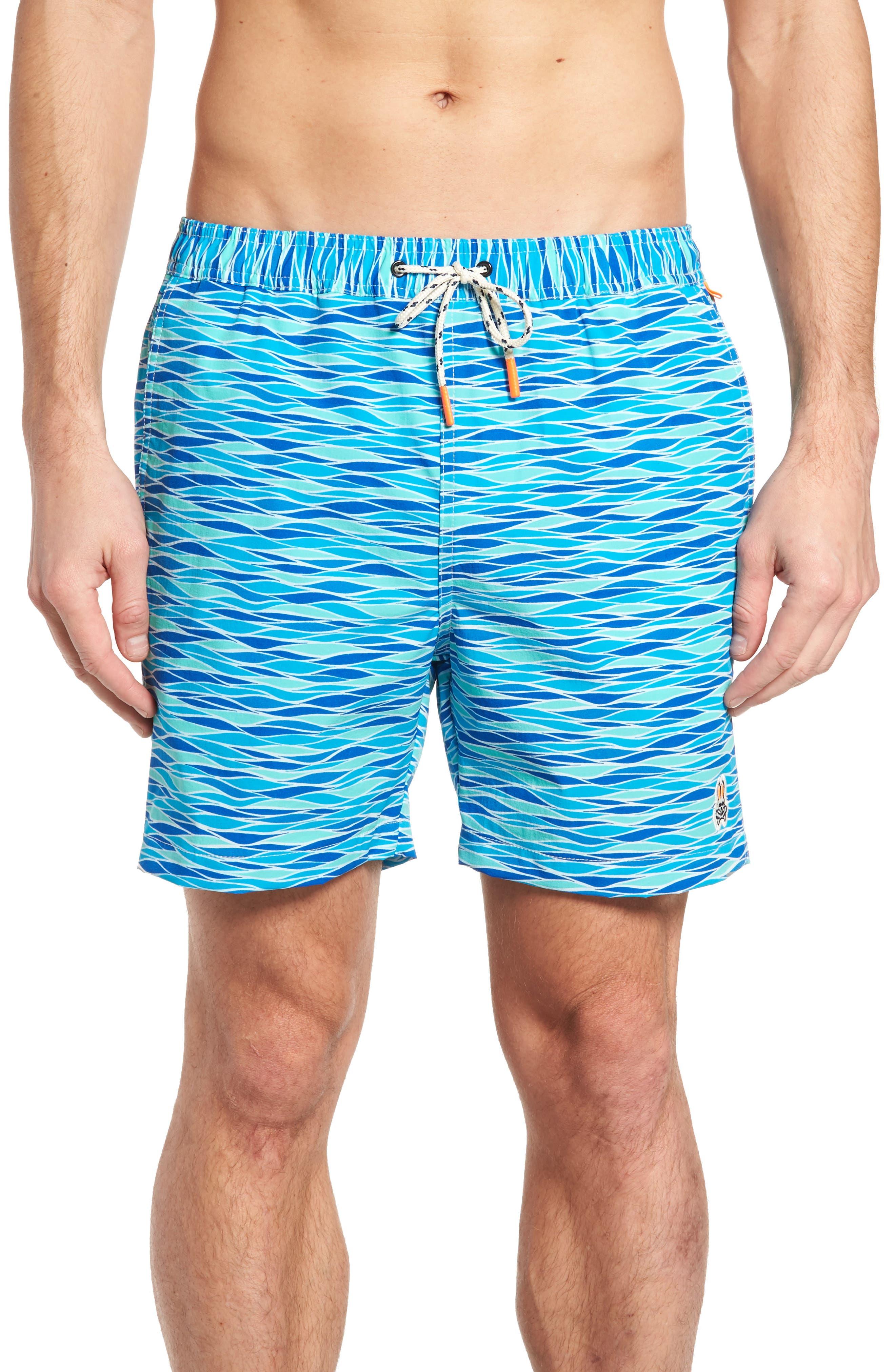 Printer Swim Trunks,                         Main,                         color, 427