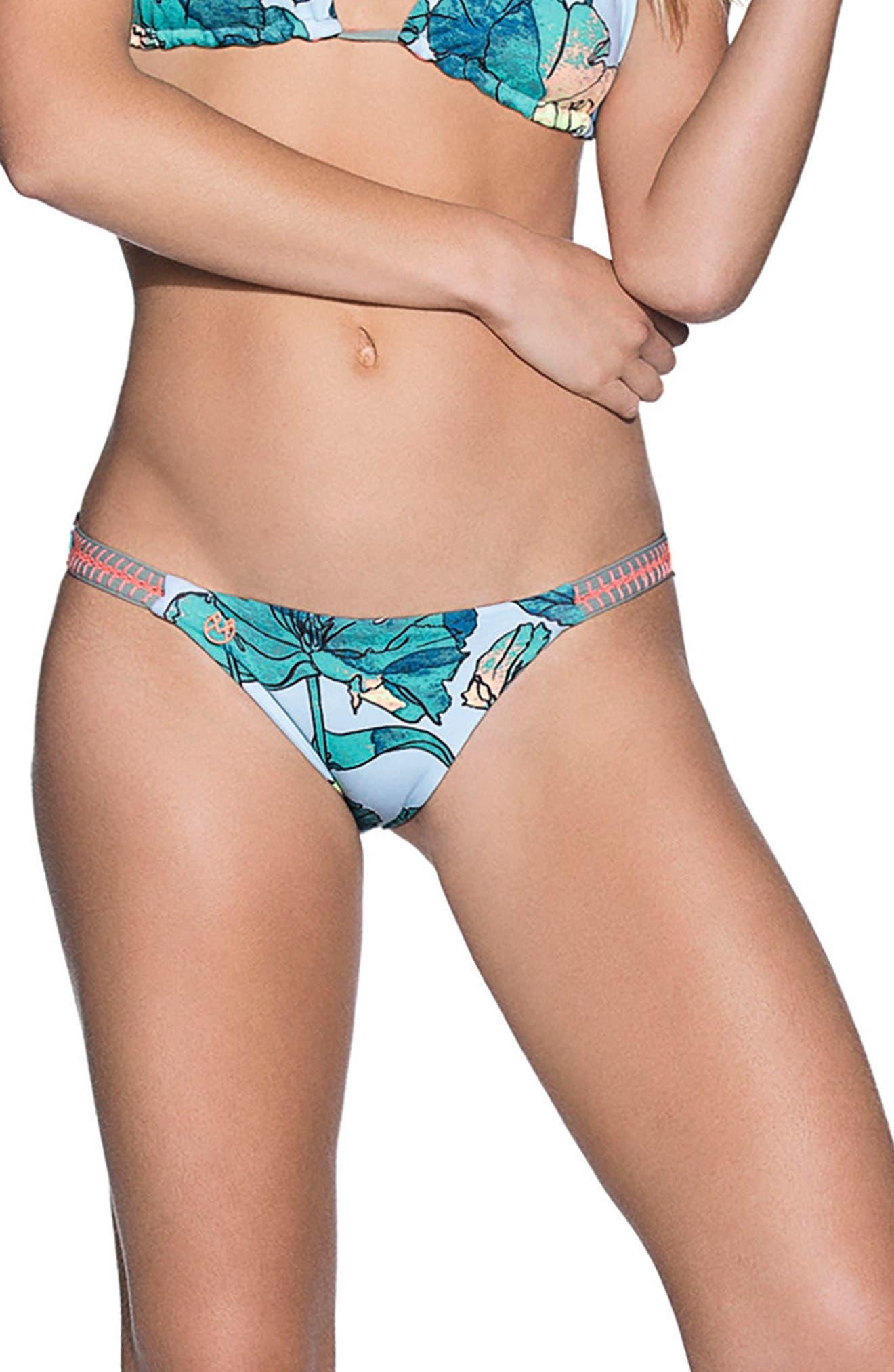 Wayuu Dance Signature Cut Reversible Bikini Bottoms,                             Main thumbnail 1, color,