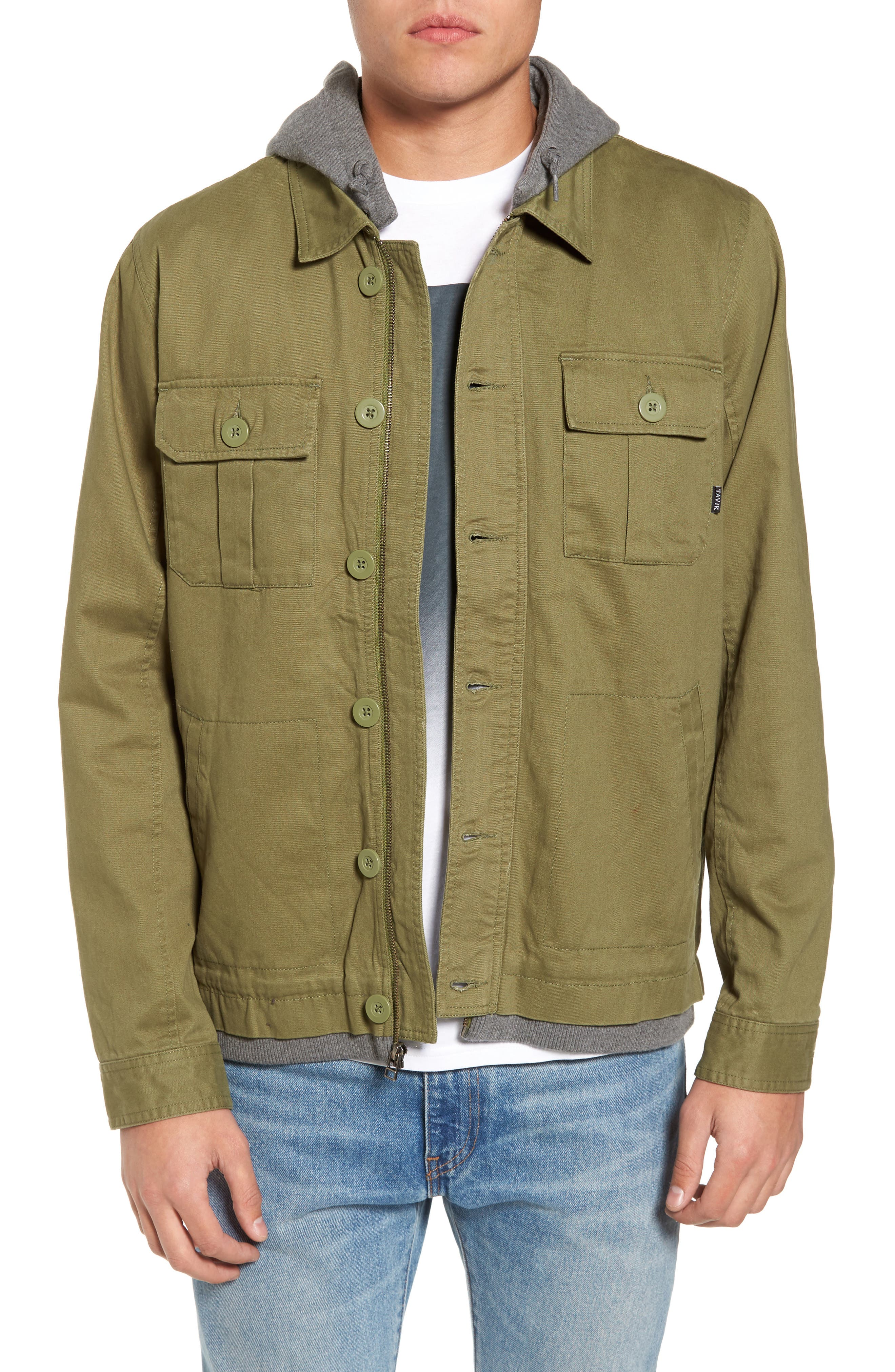 Droogs Field Jacket with Detachable Hood,                             Main thumbnail 1, color,                             001