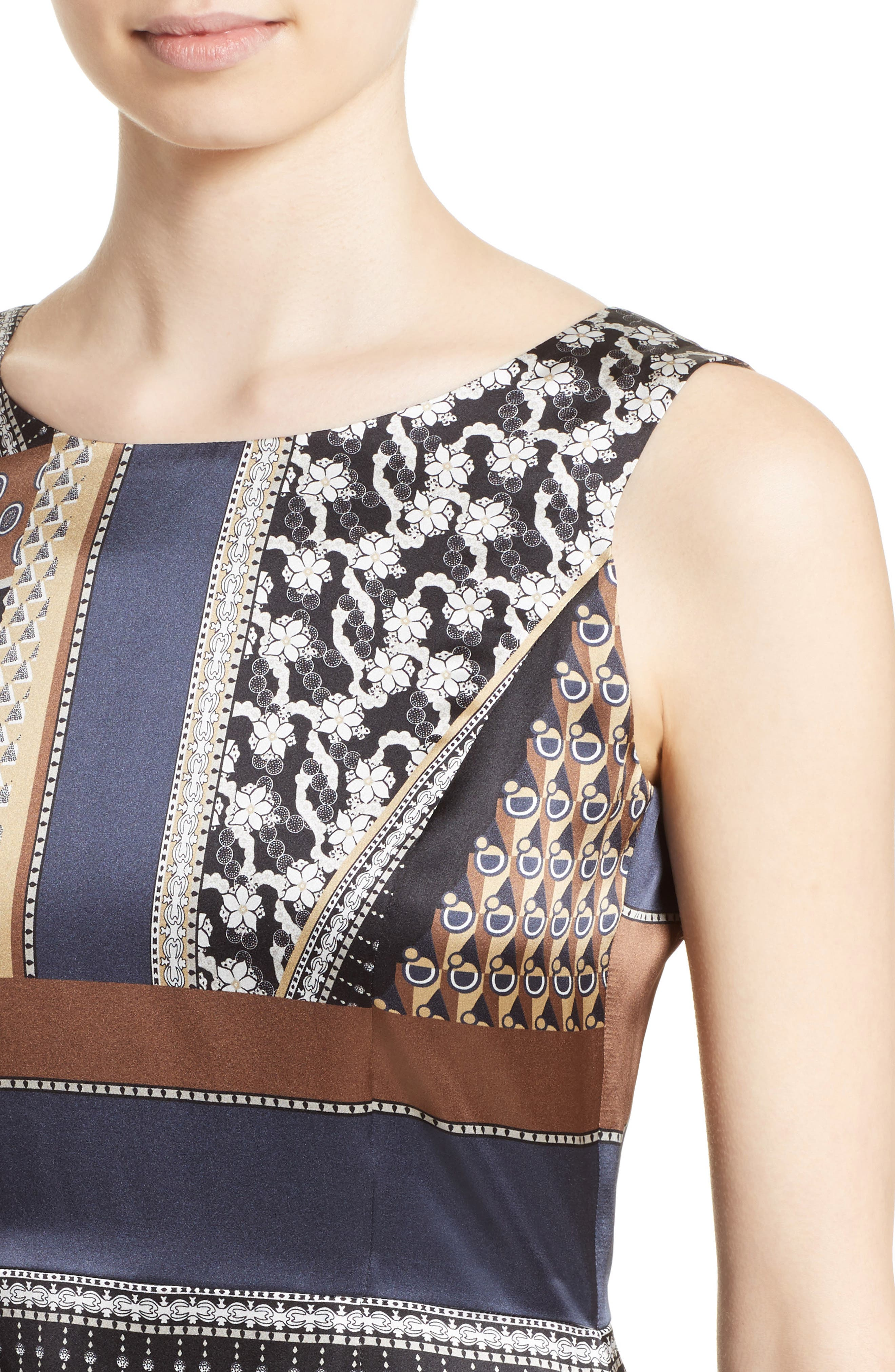 Sebella Silk Midi Dress,                             Alternate thumbnail 4, color,                             200