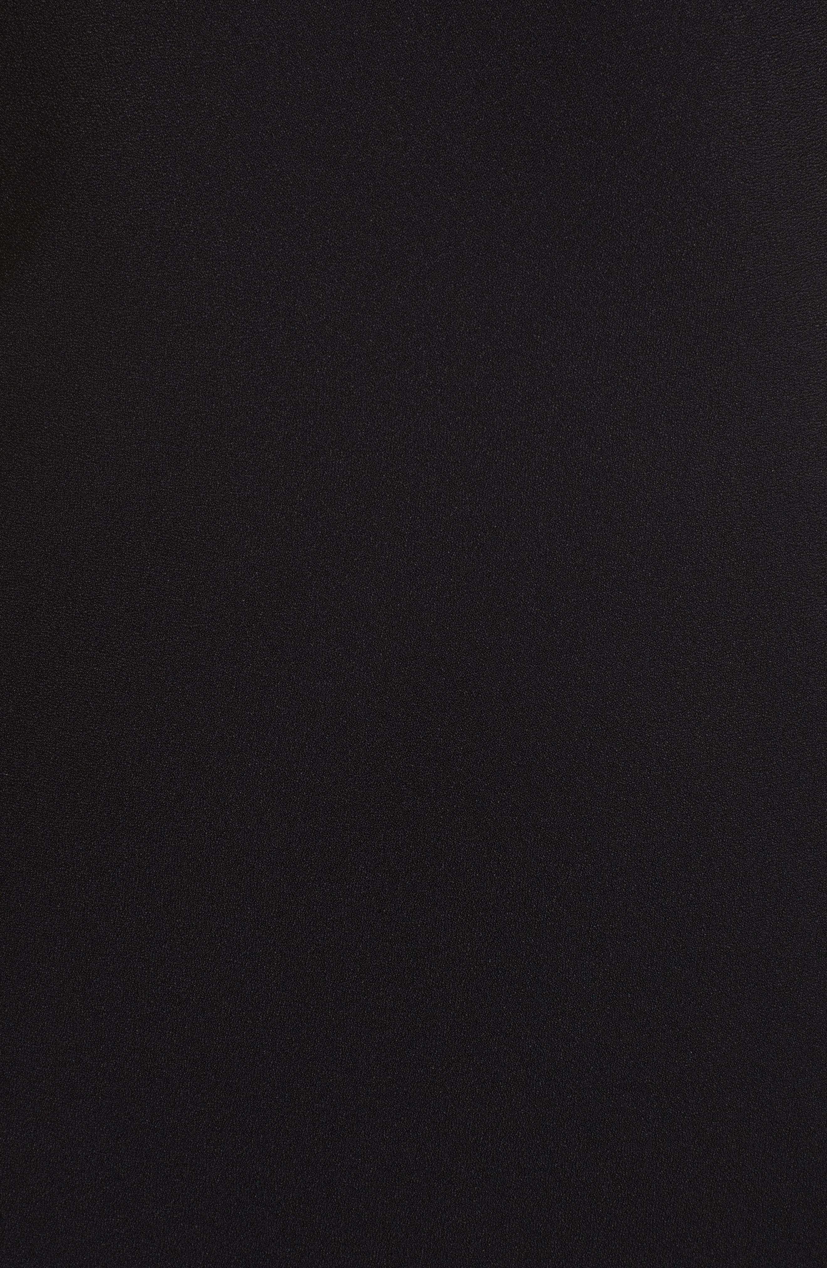 Cowl Back Midi Dress,                             Alternate thumbnail 5, color,                             001