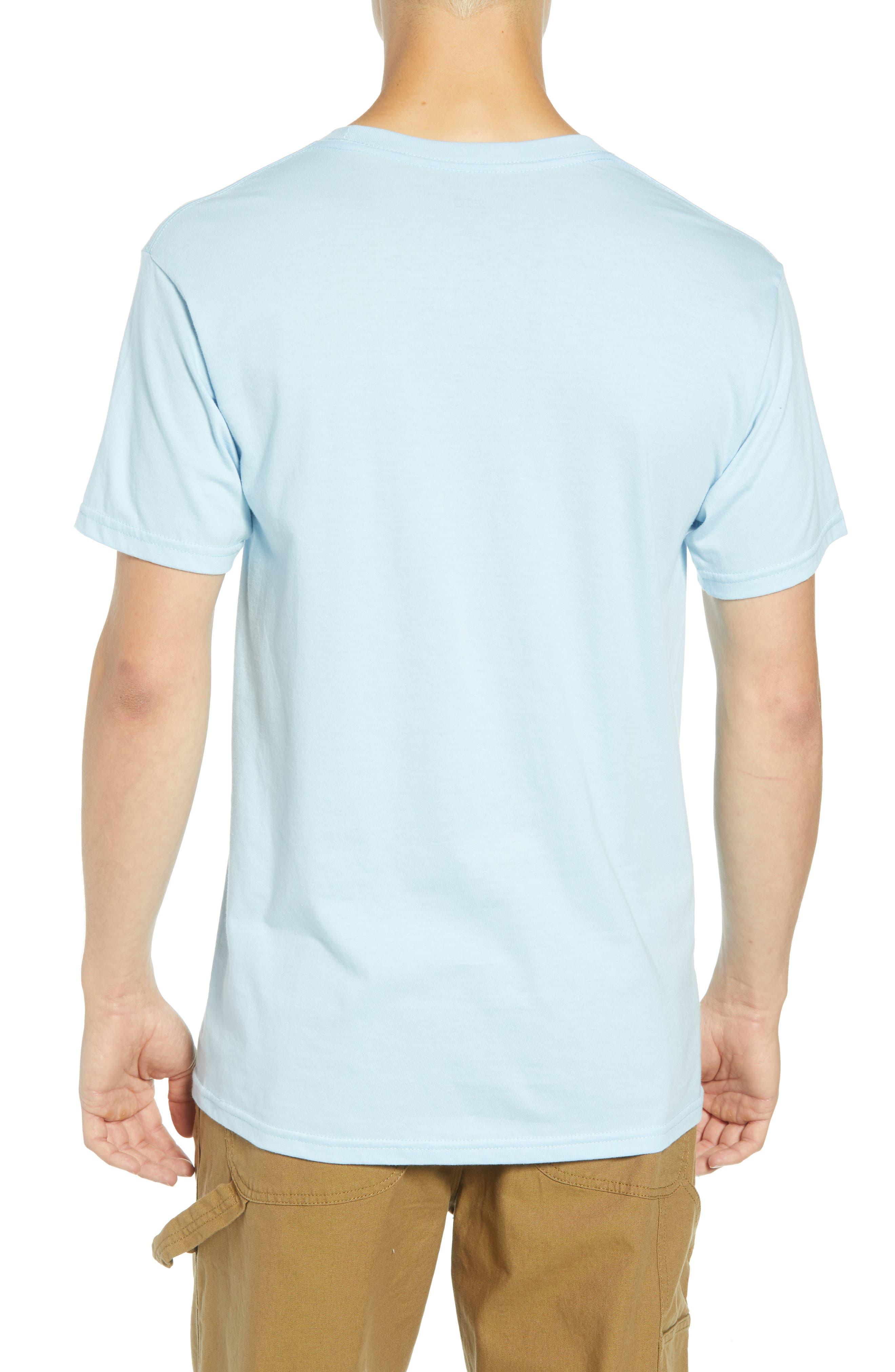 Medium is the Message Premium T-Shirt,                             Alternate thumbnail 2, color,                             POWDER BLUE