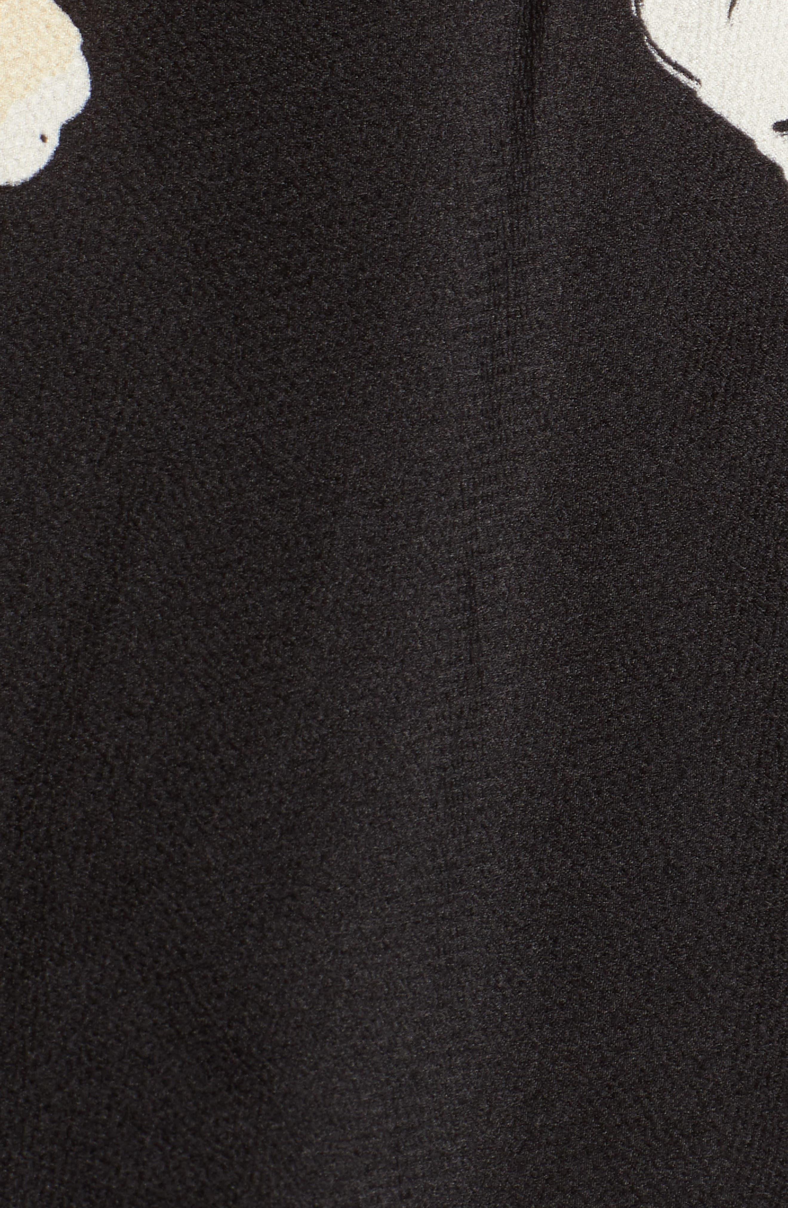 Bishop + Young Cold Shoulder Mini Dress,                             Alternate thumbnail 5, color,                             BLACK