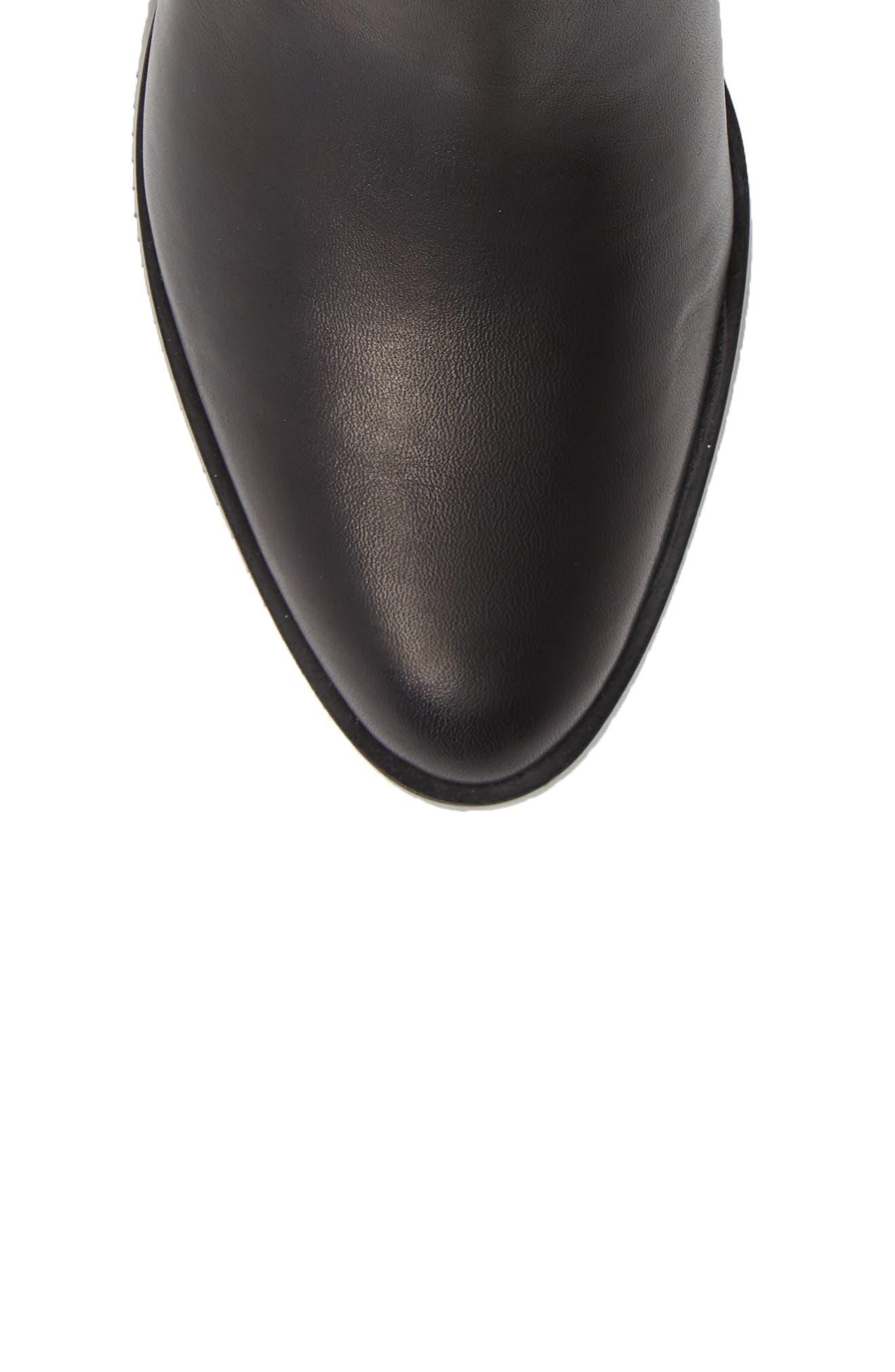 Poise Leah Boot,                             Alternate thumbnail 5, color,                             BLACK LEATHER
